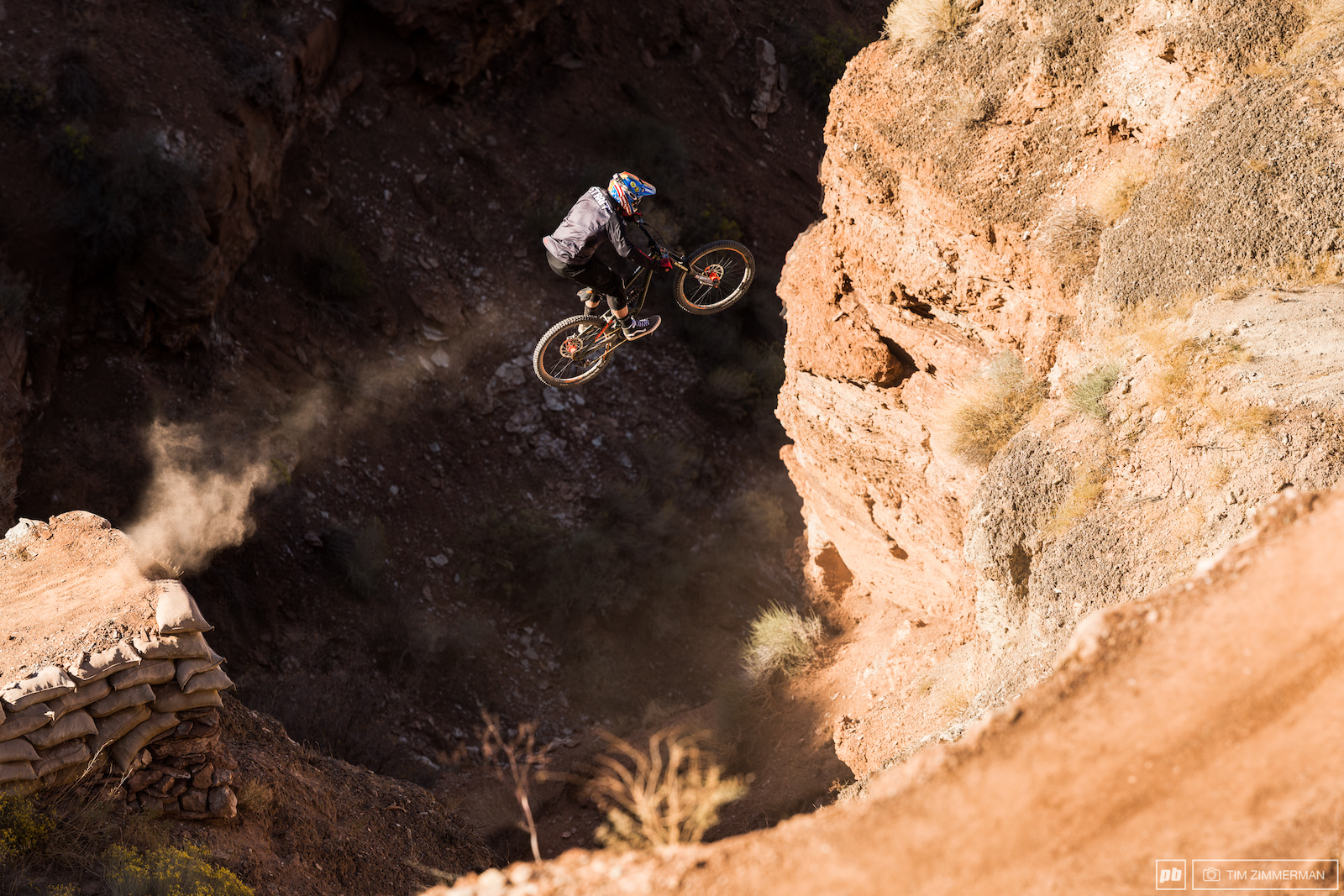 You know Kyle Strait s line is heavy when he uses a canyon gap as a casual setup jump for the next move.