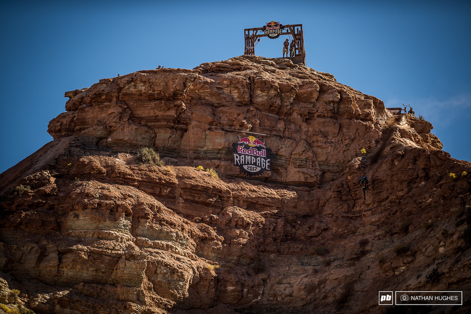 Zink tucks into the most heinously steep and prolonged chute in Rampage history.
