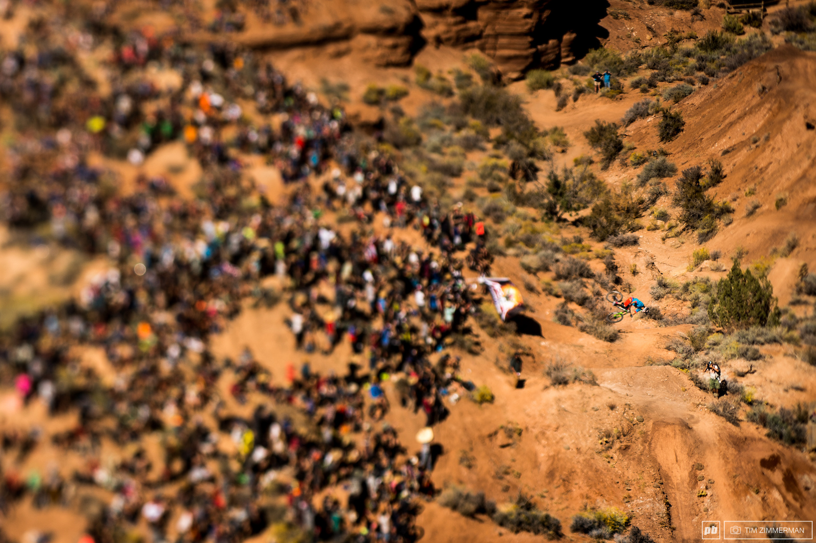 Even with the crowd pulling for you it s up to you alone to ride your line. Darren Berrecloth is no stranger to the complete focus required at Rampage.