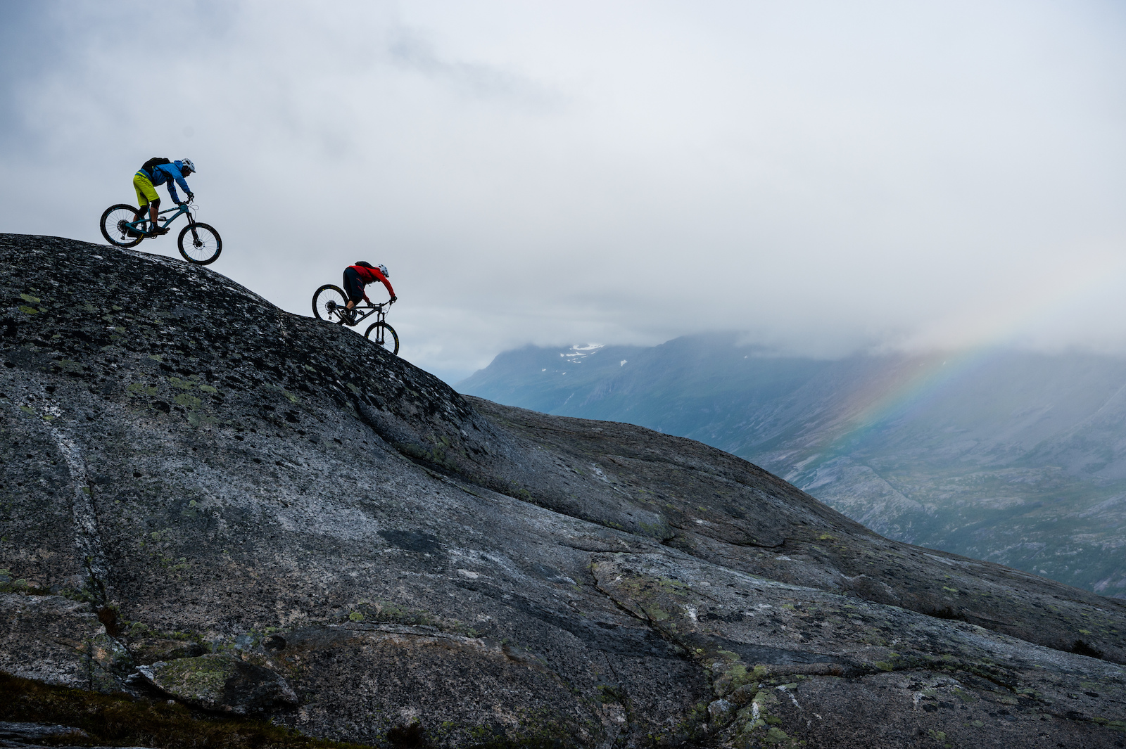Joey Schulser and Mikael af Ekenstam riding in Skjomen Reinnesfjellet Norway.