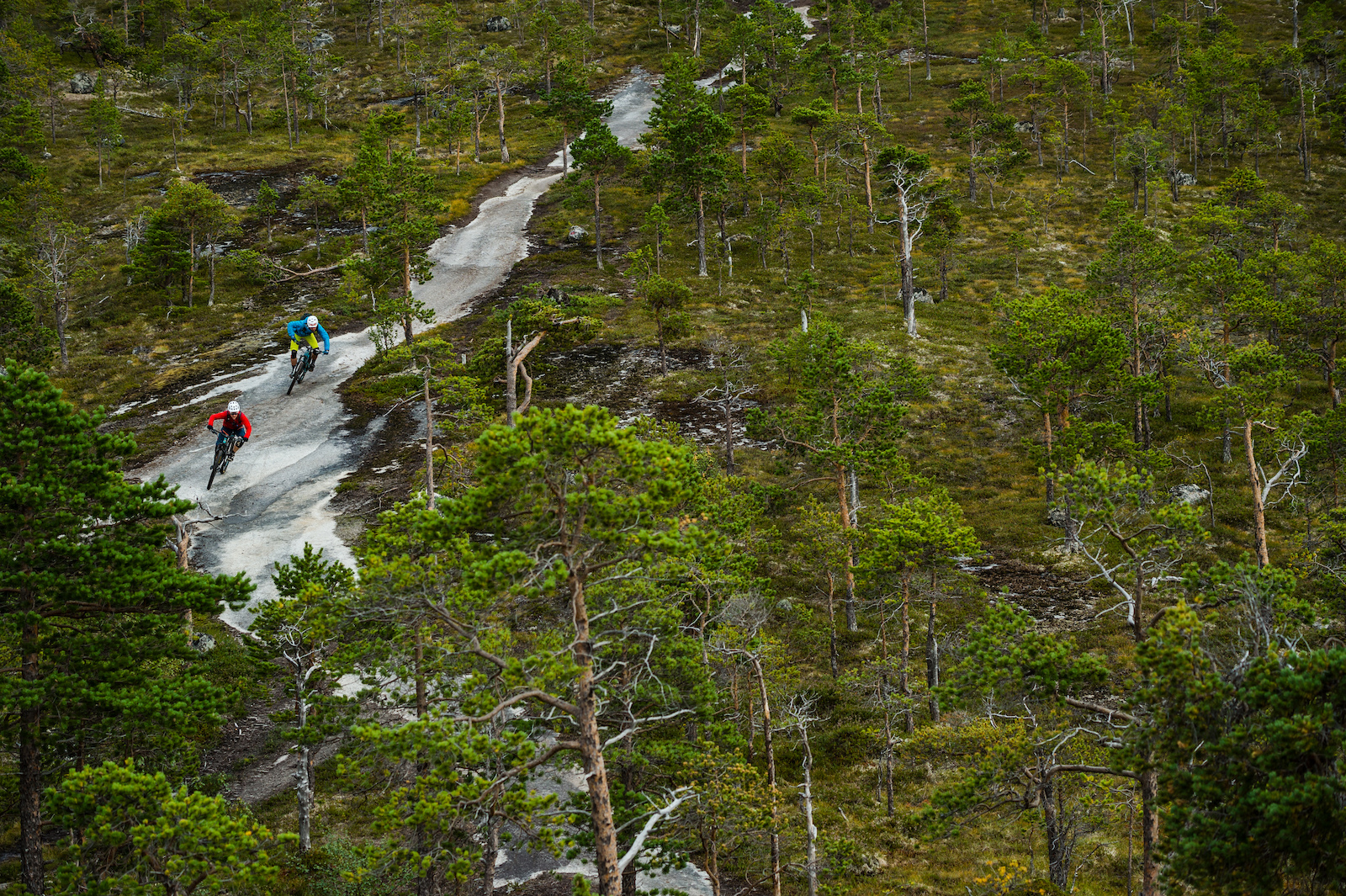 Mikael af Ekenstam and Joey Schulser riding in Skjomen Reinnesfjellet Norway.