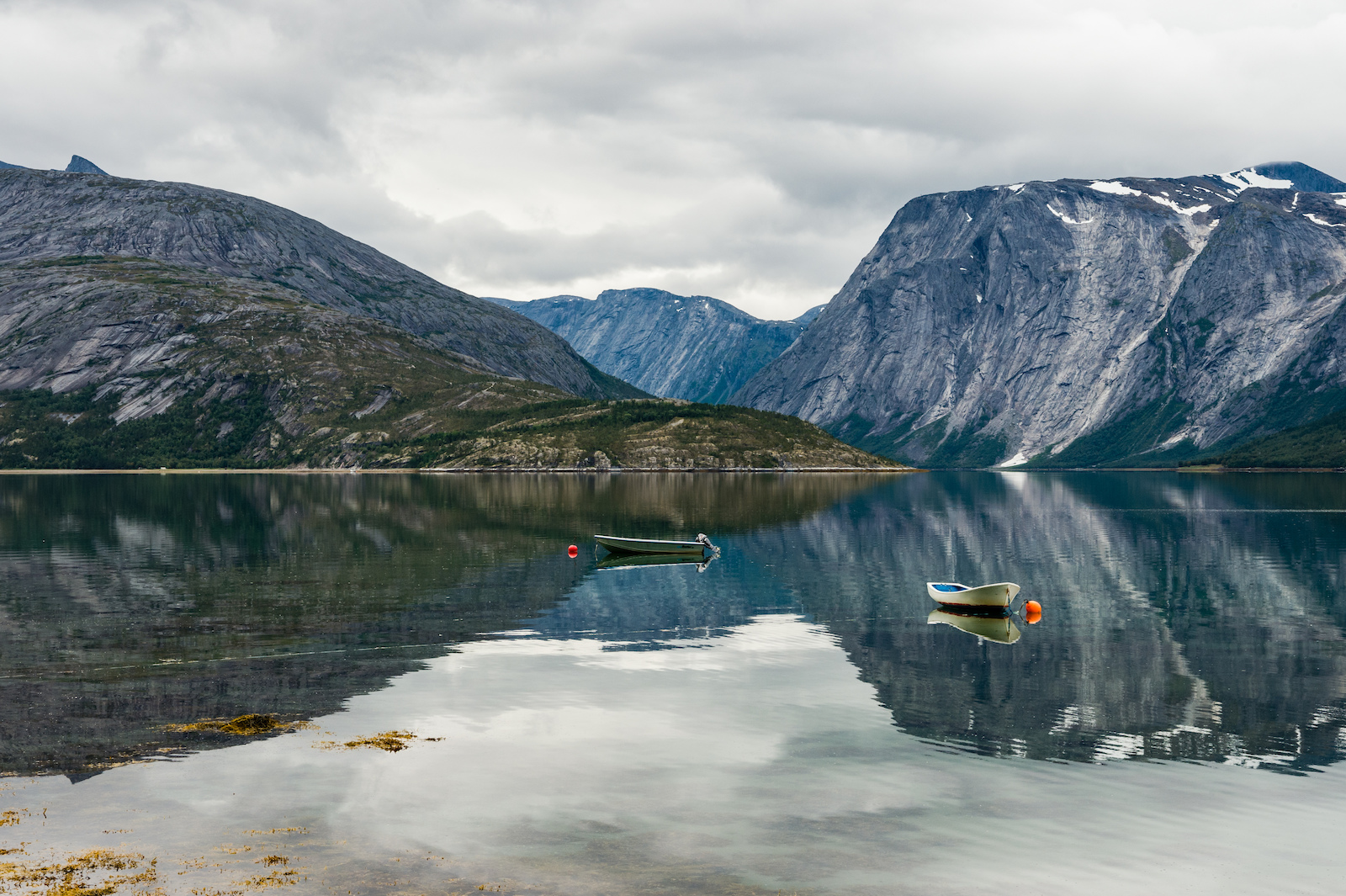 Fjord view in Skjomen Norway.