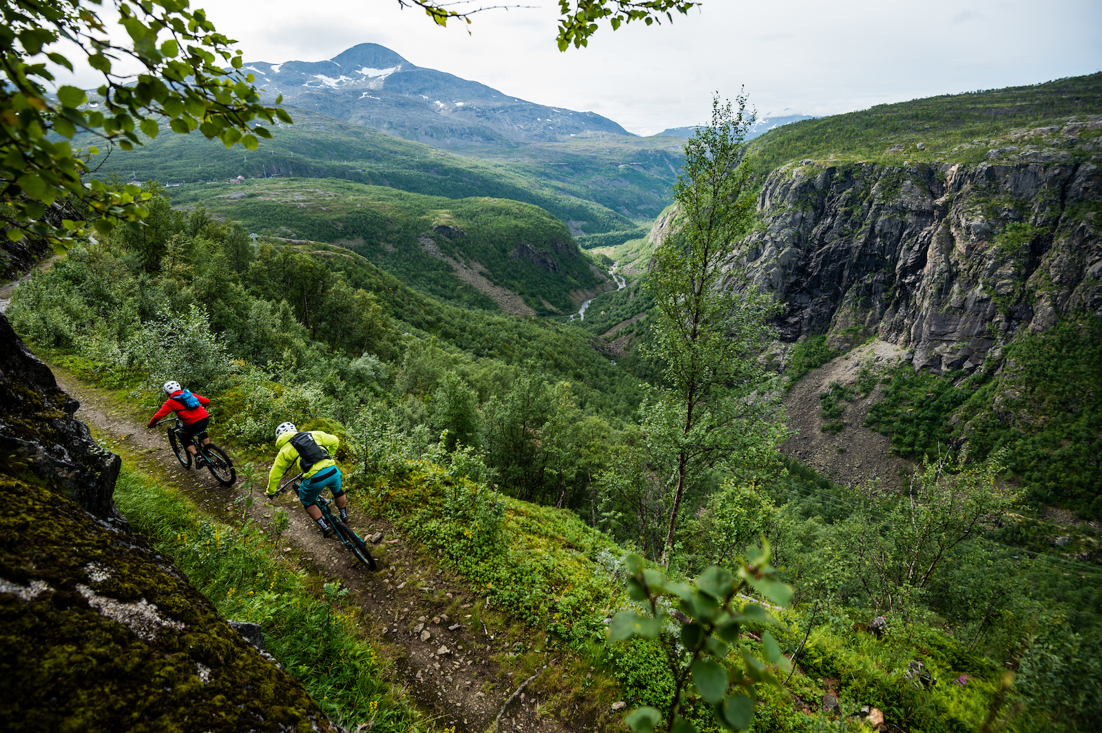 Mikael af Ekenstam and Joey Schulser mountain biking in Katterat Norway.