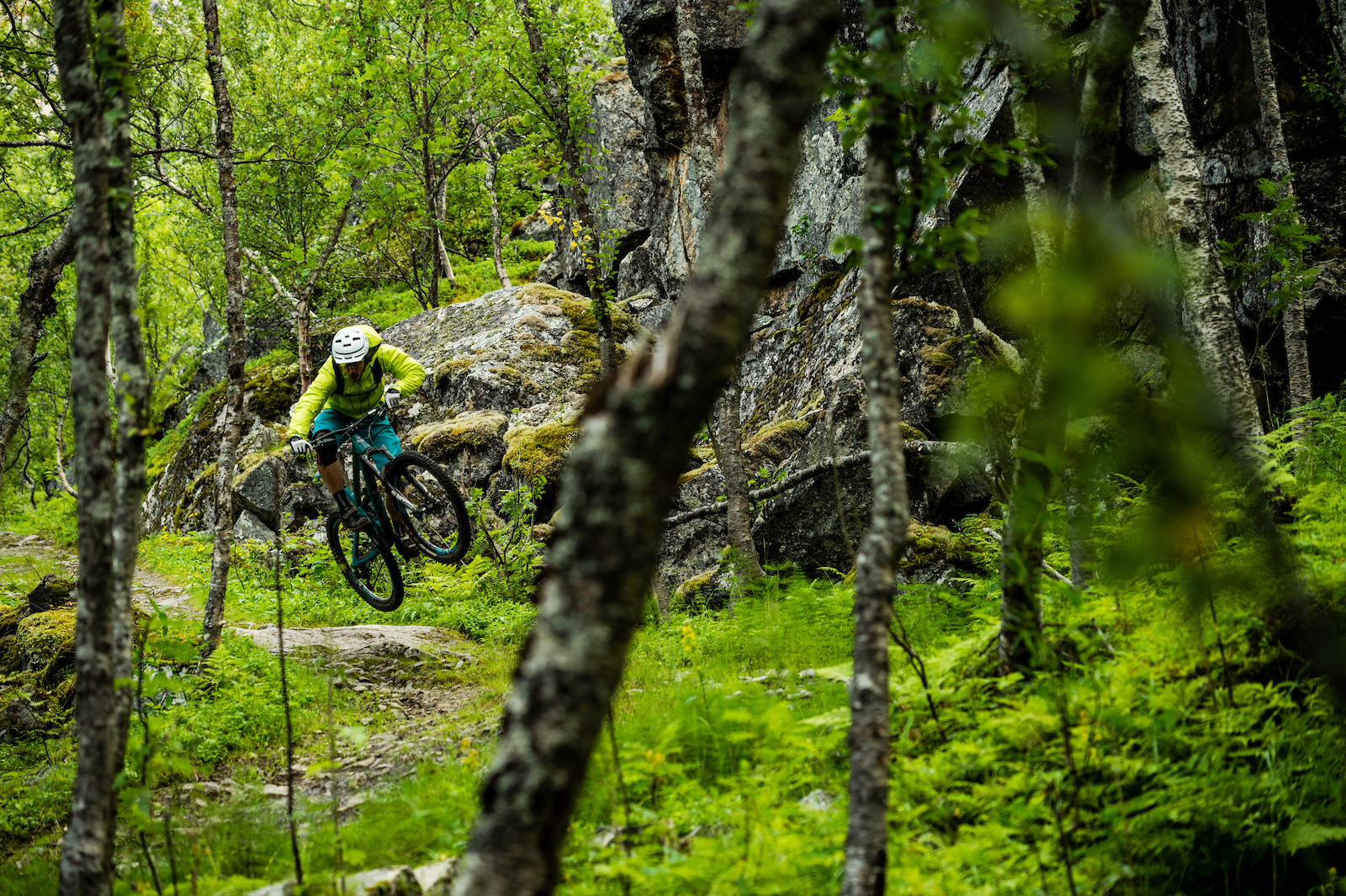 Joey Schulser riding in Rombak Norway.