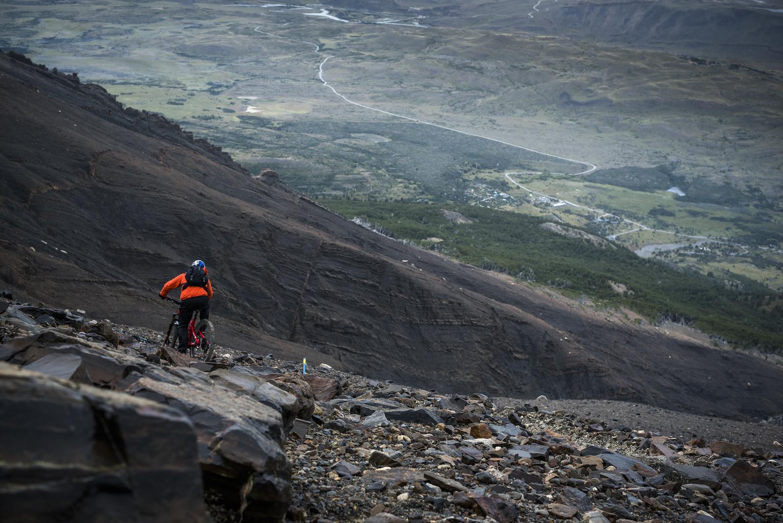 Descending Cerro Paine
