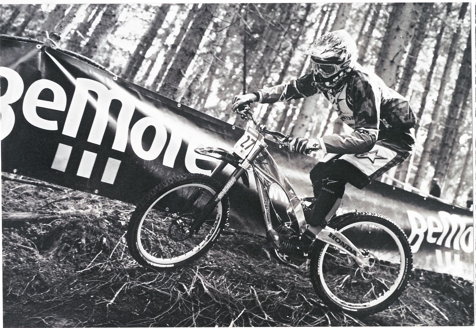 Greg Minnaar riding the Honda RN01