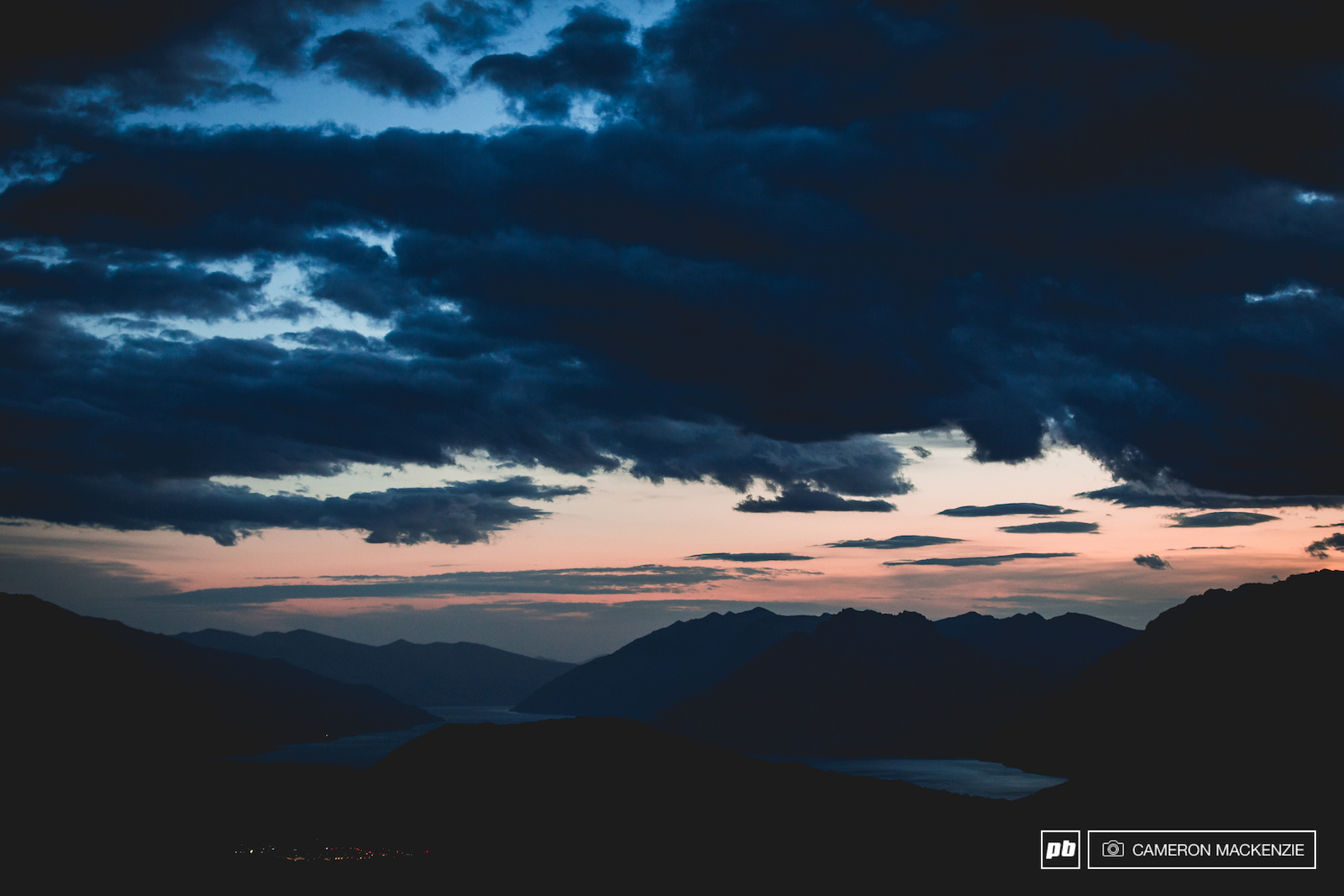 Last moments of golden hour above Coronet Peak