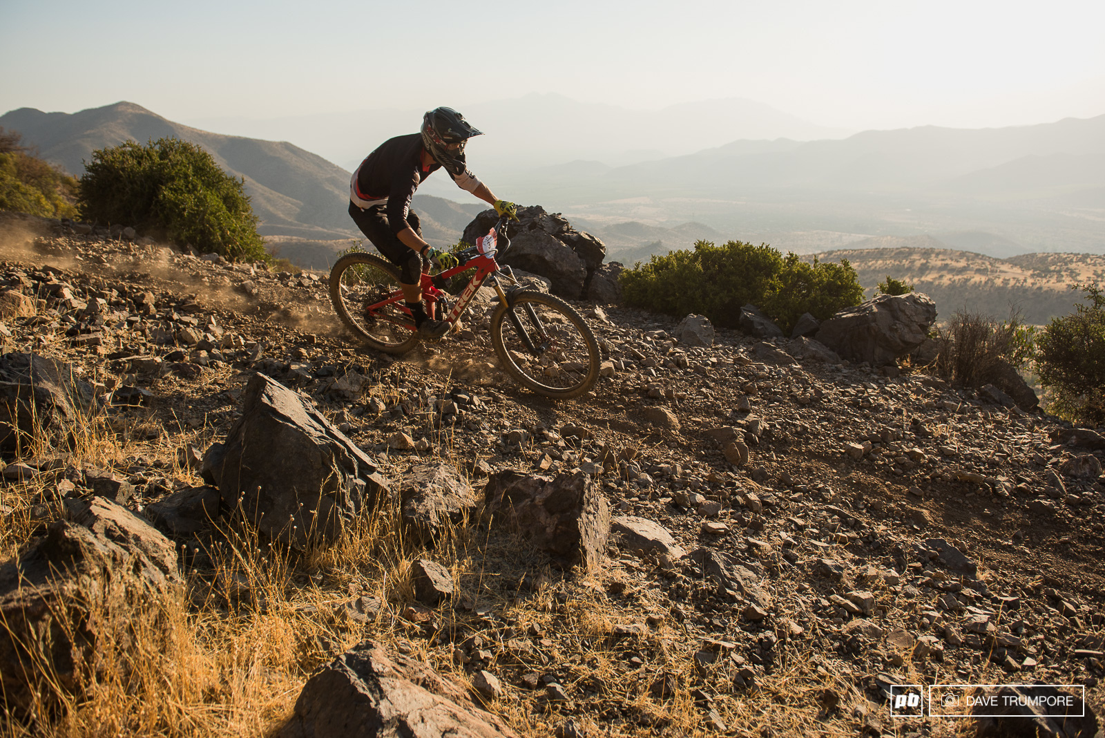 Pedro Burns navigates the lose rocks on the final stage of Day 3.