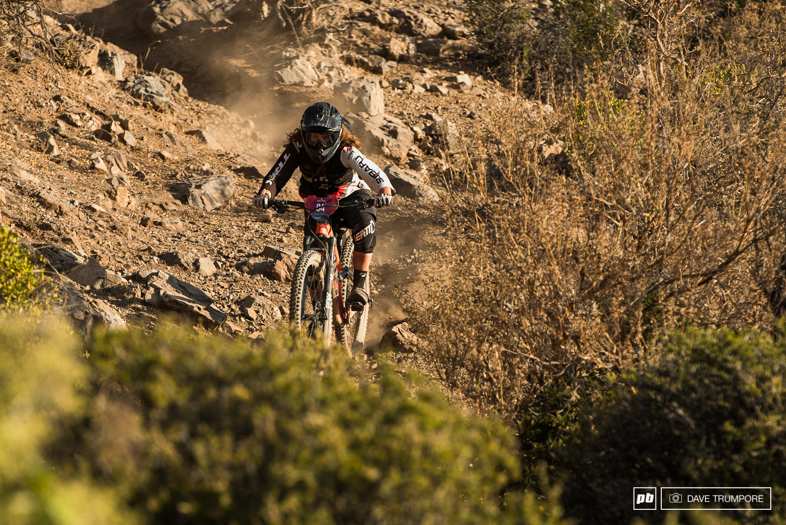 Florencia Espinheira looks unstoppable for the win in the women s race.