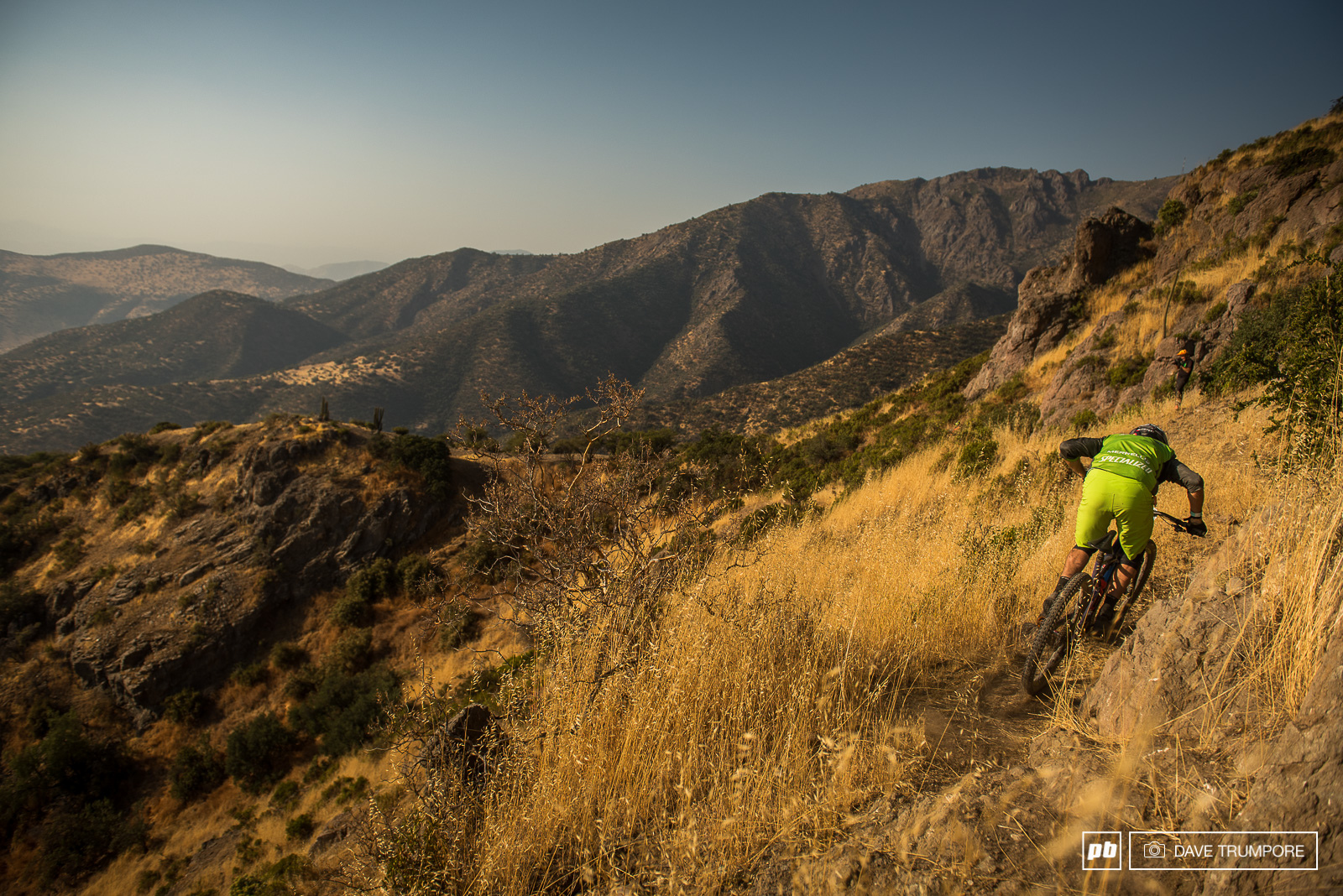 Even in the foothills of the Andes the trails are loose and rugged.