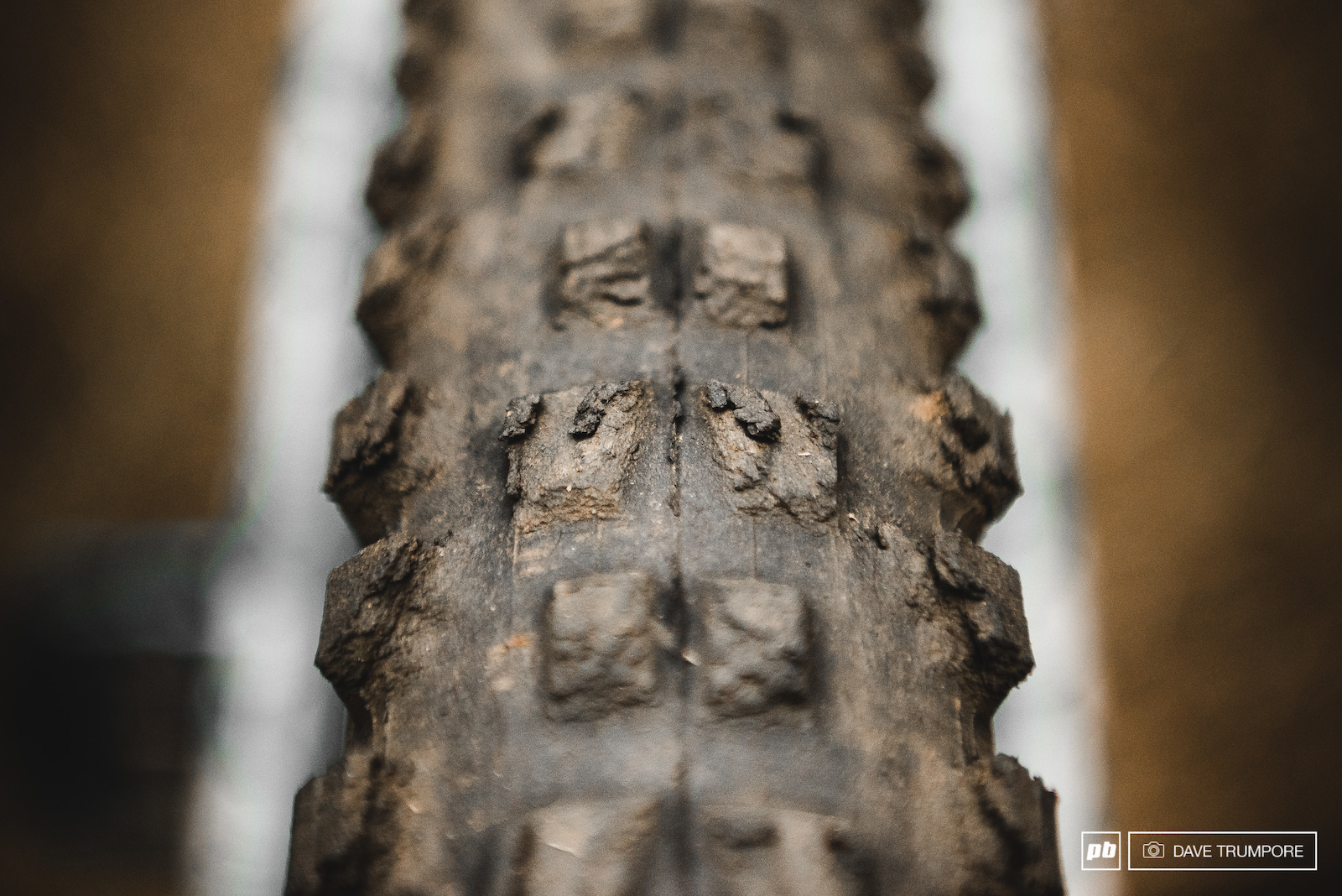 Jesse Melamed s rear tire after 5 days 16 stages and 11800 meters of anti-grip descending.