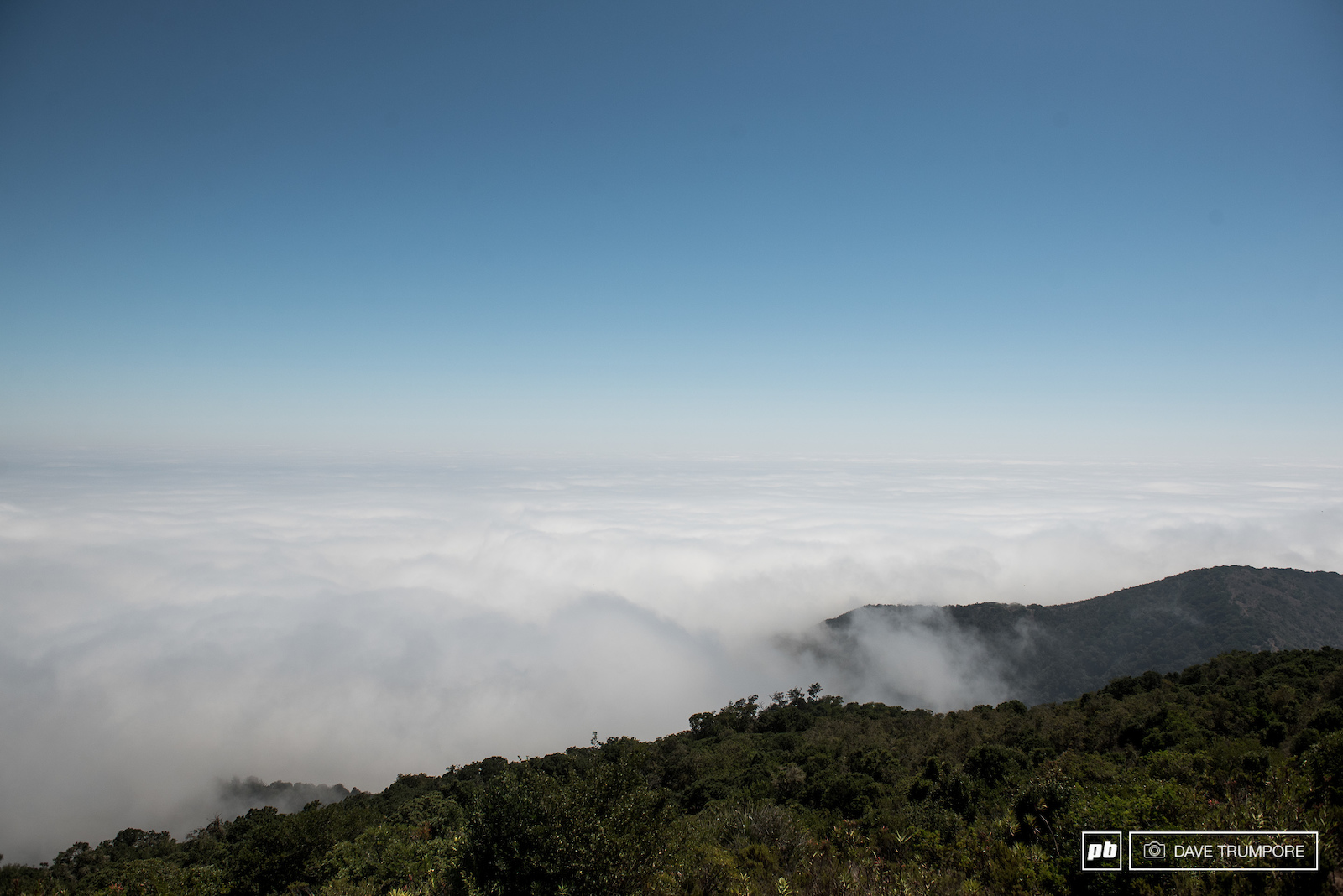 It was cold and foggy at the bottom of the mountain and super hot and humid up top t start the final stage of the week. Usually there would be a beautiful view of the Pacific Ocean greeting racers as they reached this point in the race but on this day it was not to be.