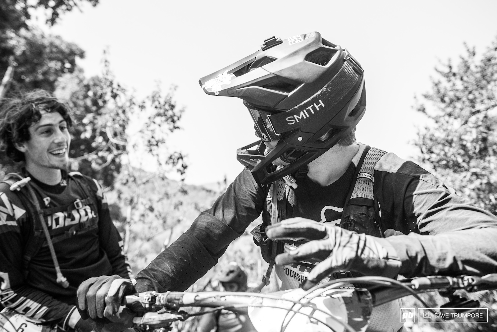 Mark Scott and Josh Bryceland compare wild stories from their ride down stage 13.