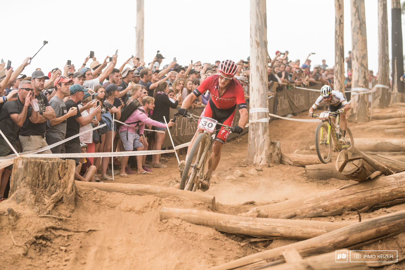 Nino Schurter saw Sam Gaze take the lead time and time again.