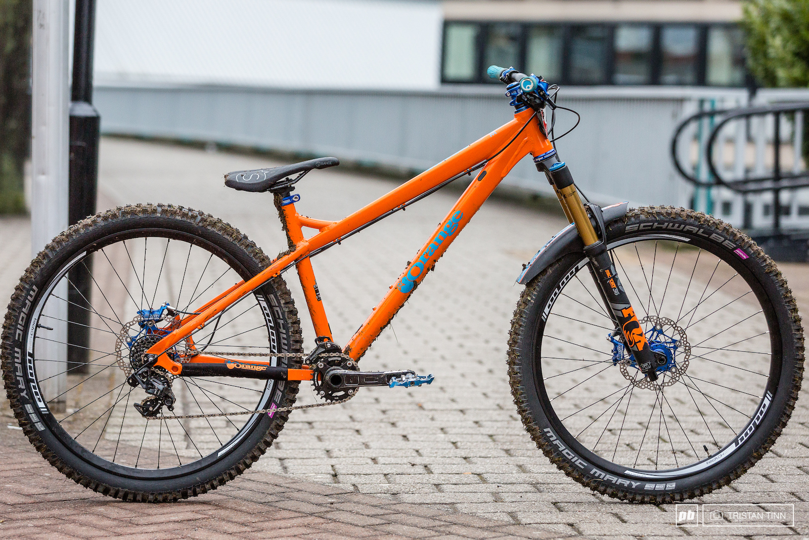 Ben Moores Orange Crush with contrasting blue Hope components