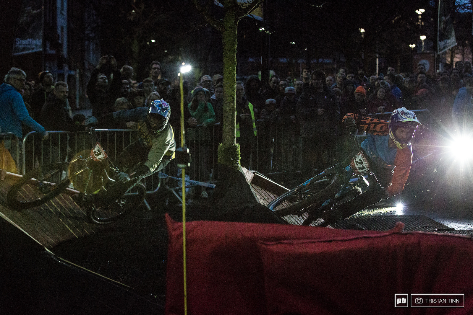 James Swinden and Steve Peat charge the chaos corner in quater finals