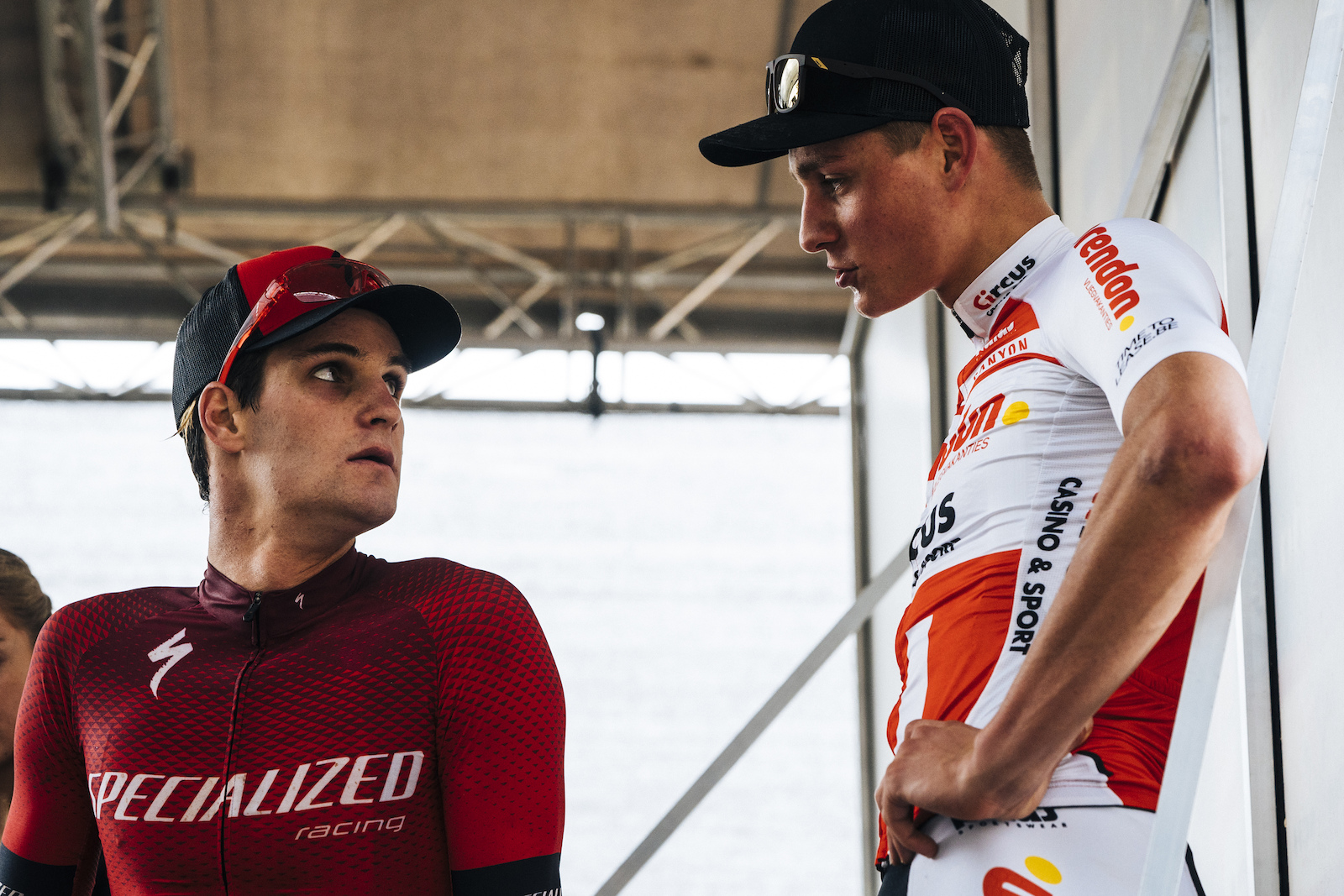 Gaze and van der Poel pre awards post beat down.