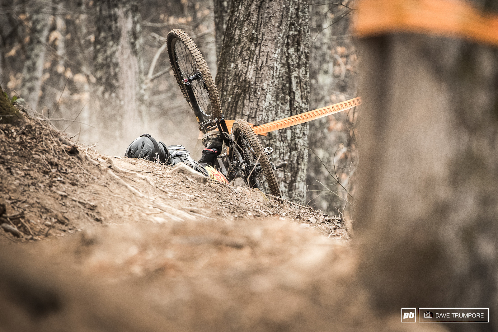 Off cambers and slick rocks caused headaches for more than a few rides this weekend.
