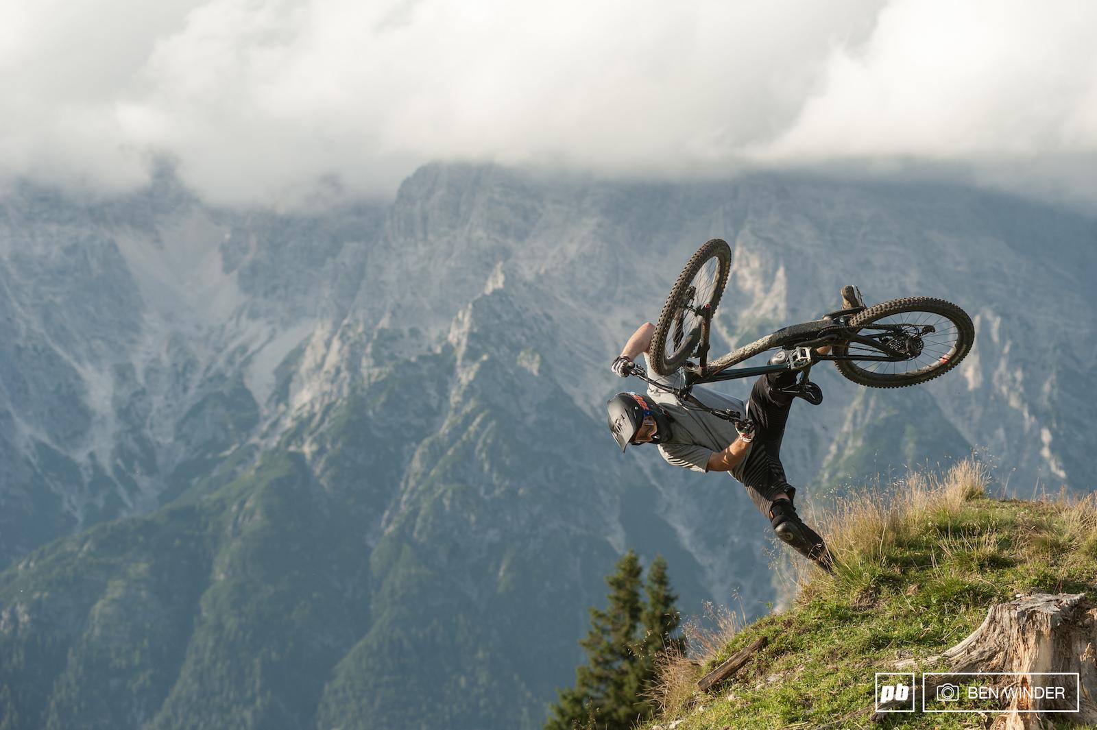A karate professional attempting mountain biking. 1 10 for thigh gap.