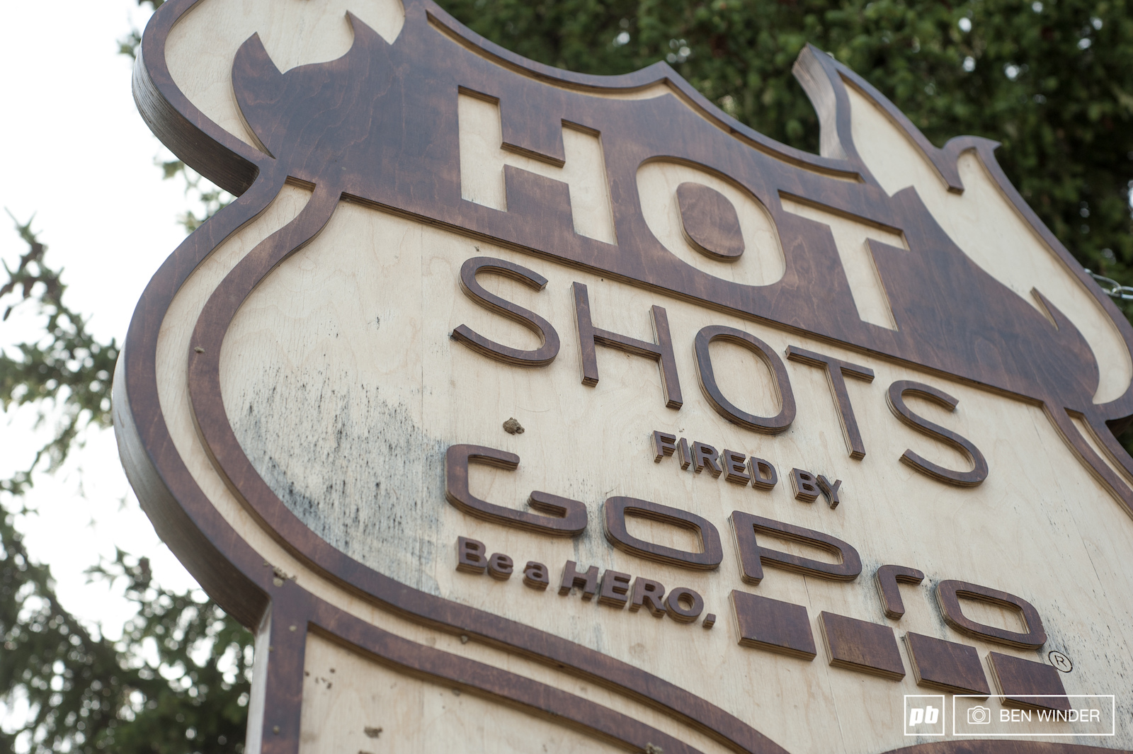 A late-afternoon last dash down Hot Shots.