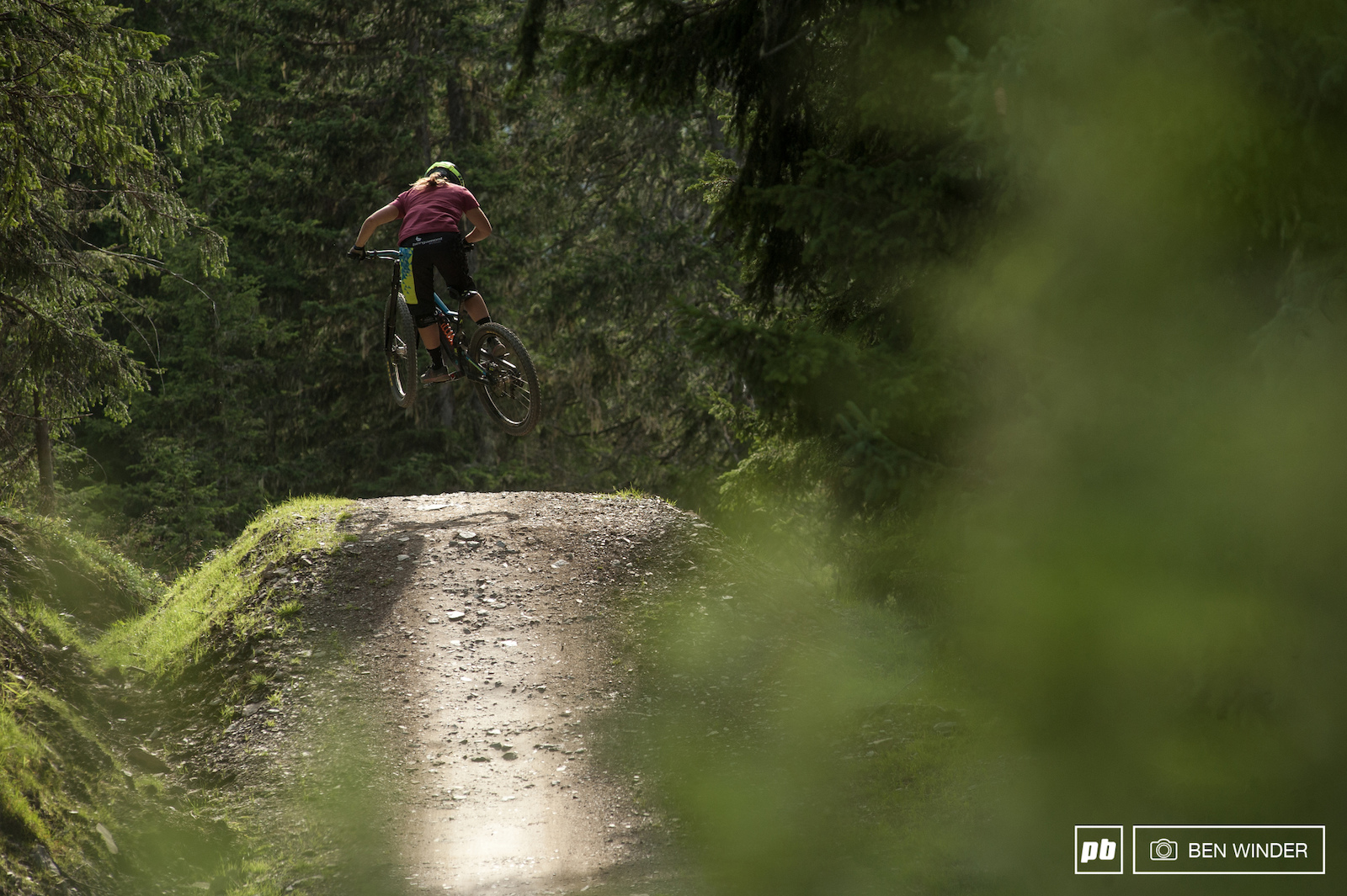 Morgane hitting up one of the many tabletops on Hot Shots.