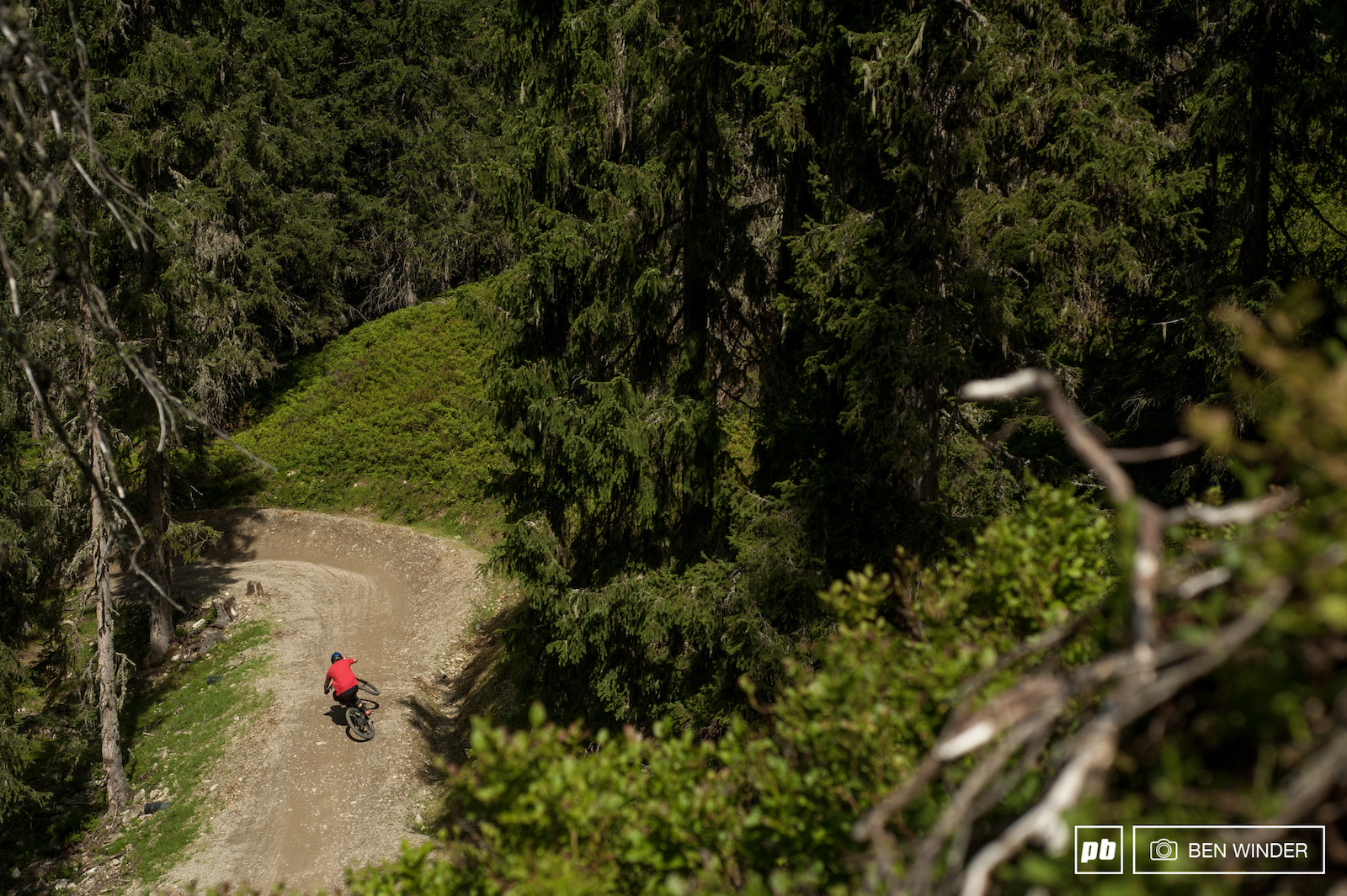 Deep in the Austrian forest you ll find a very fun bike park track Hot Shots.
