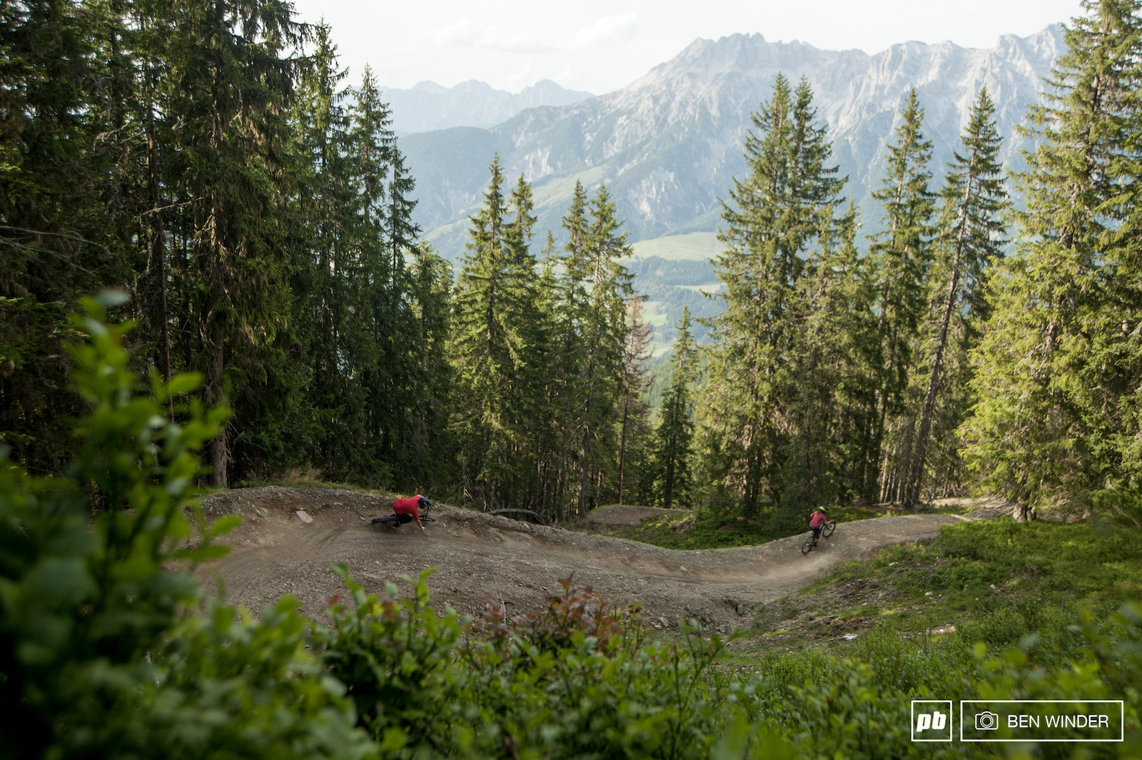 Berms and jumps. Quite a common theme at Leogang. While easy enough for most levels it s still a lot of fun for more experienced riders.