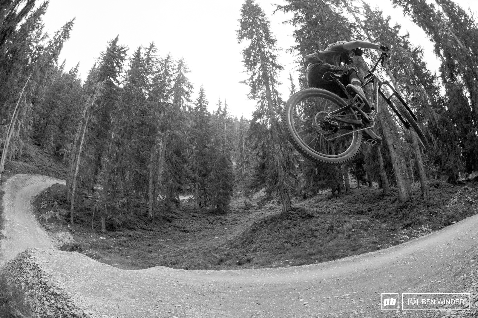 Hot Shots is an easy trail full of tabletop jumps and big berms.