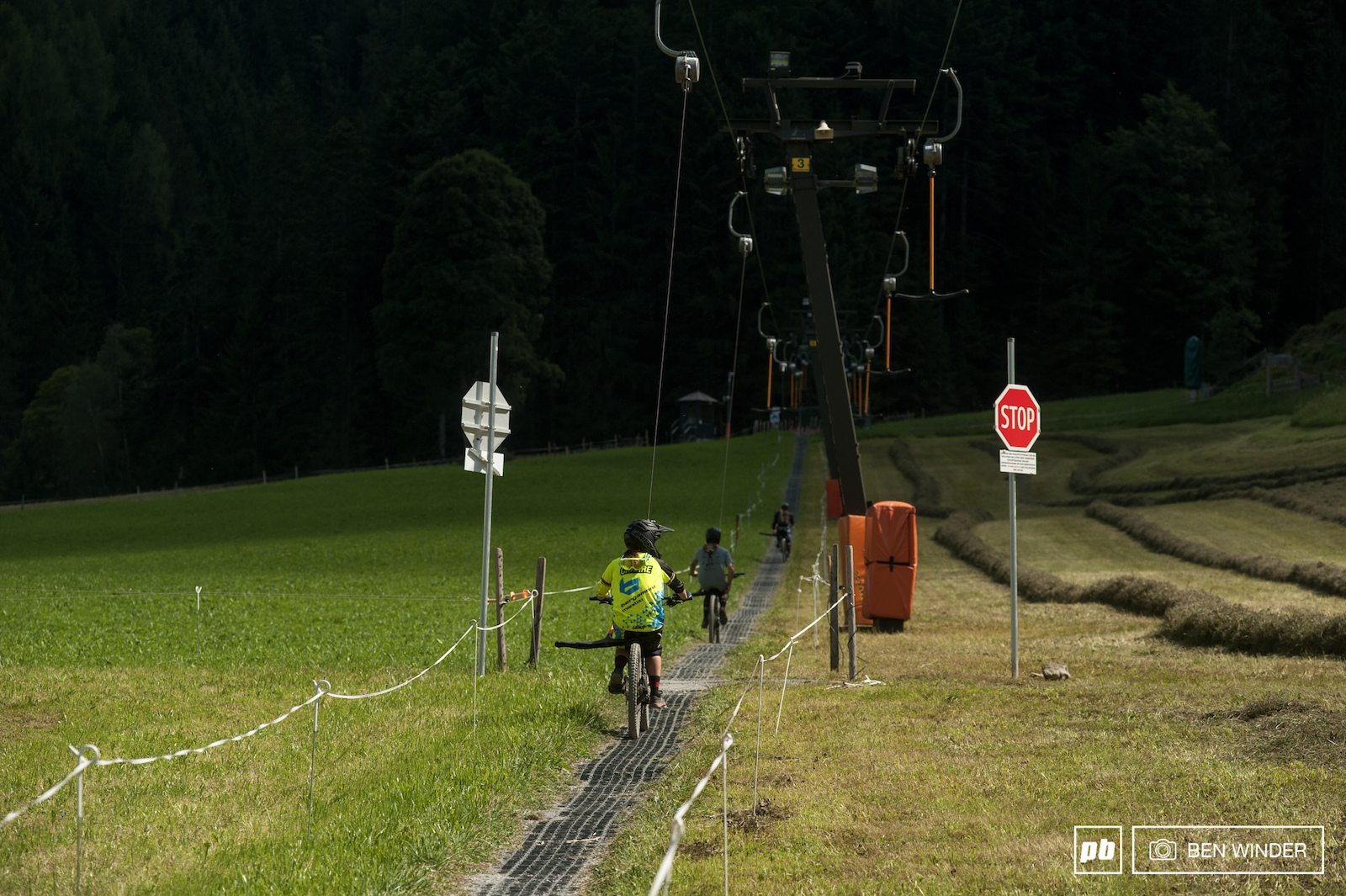 Aside from the main slopes a T-bar gives access to a fun learner track in town.