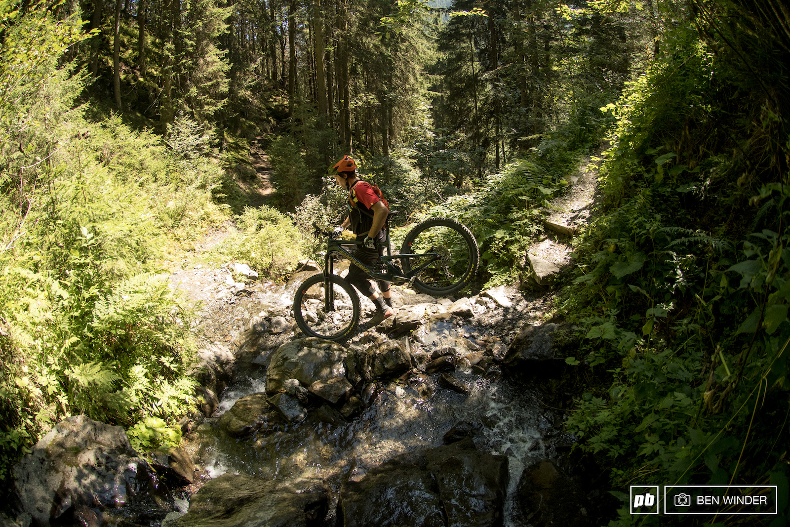 Most of the riding is machine-built but there are some nice singletracks too.