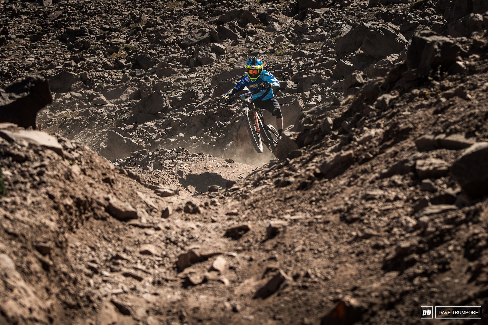 Martin Maes loves fast and loose terrain and the stages here in the Andes are delivering just that.