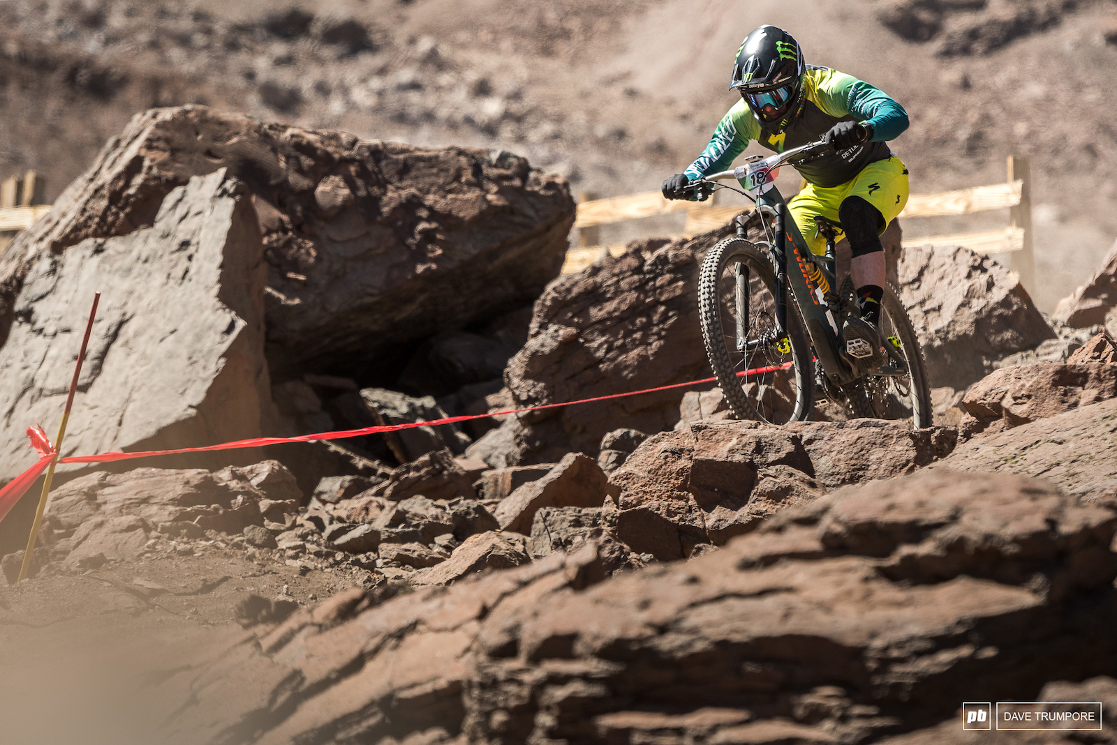 Despite a puncture at the top of stage 3 Jared Graves is still in the running with a 7th overall on the day.