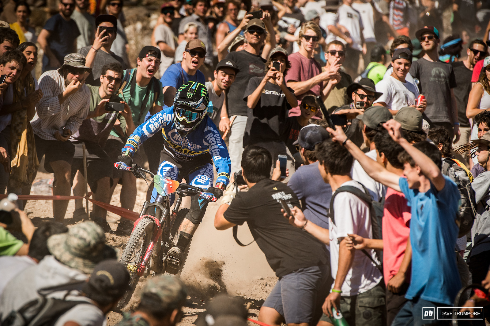 Sam Hill blasts his way through the mob to take the win at the opening round of the EWS in Chile.