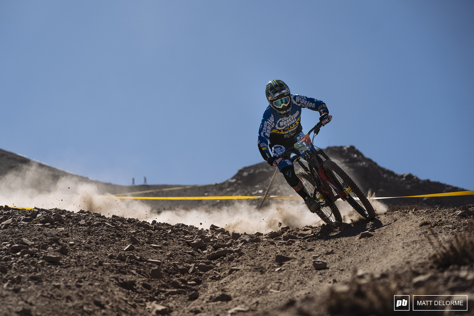 Sam Hill proving that flat pedals win medals even in the most brutal of EWS rounds.