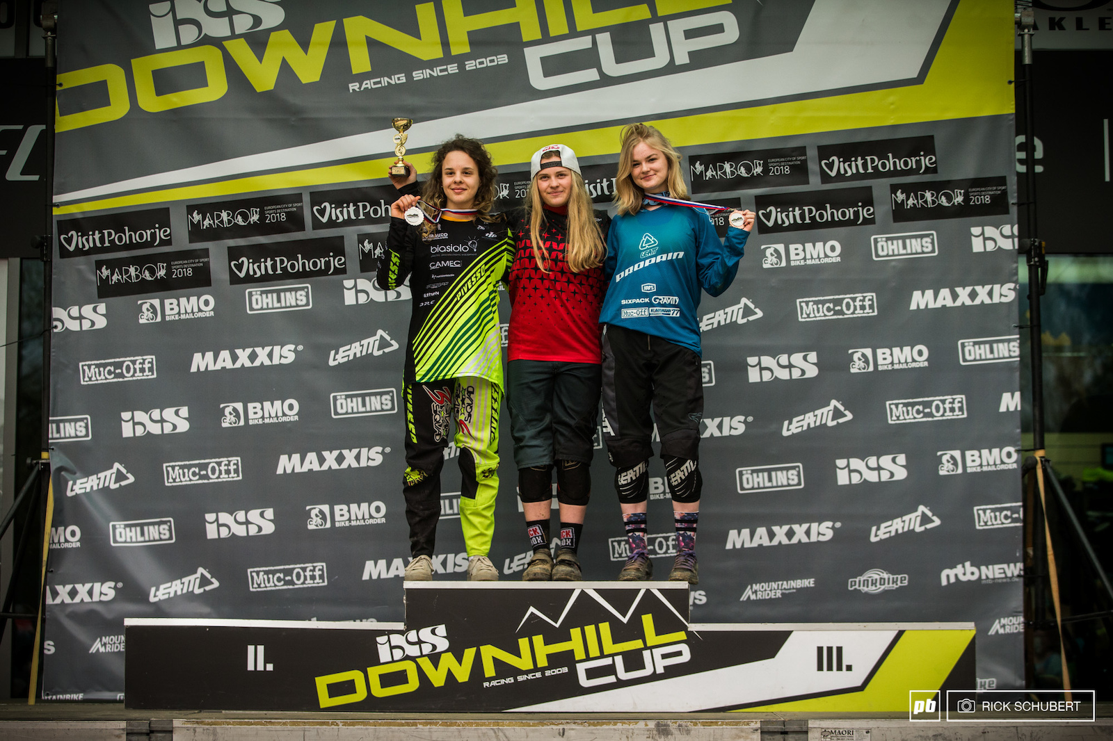 Podium U19 female with Lisa Gava Vali Hoell and Ottilia Jones