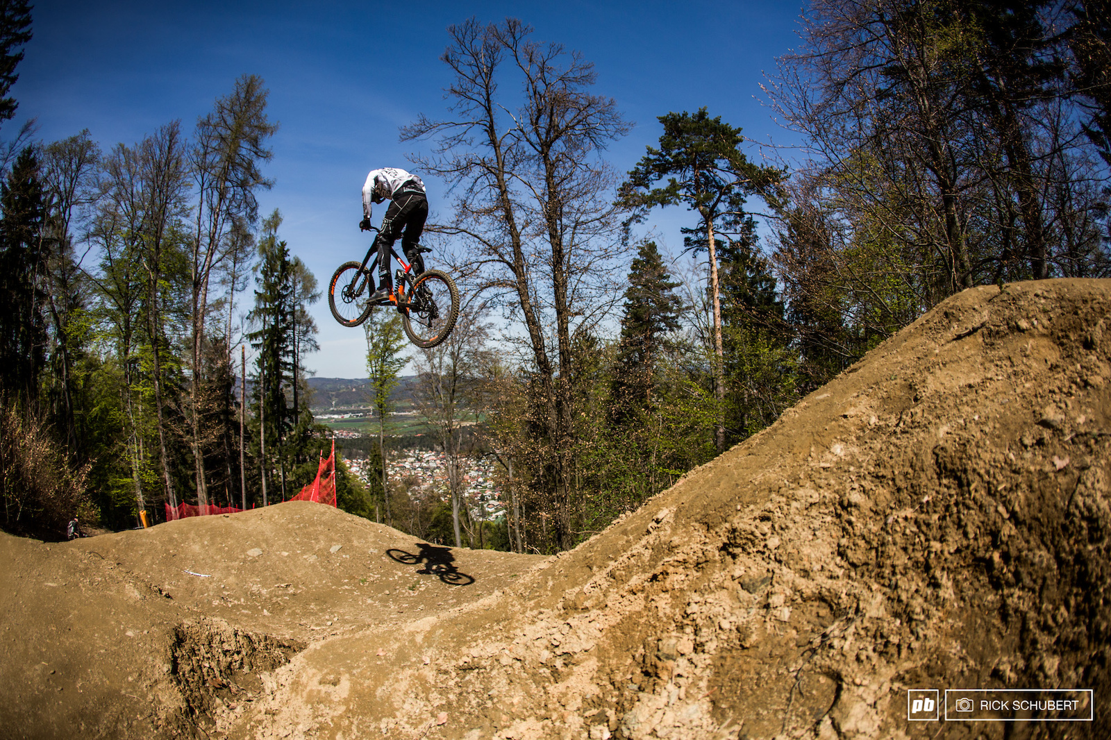There were some fresh man-made sections with some massive jumps