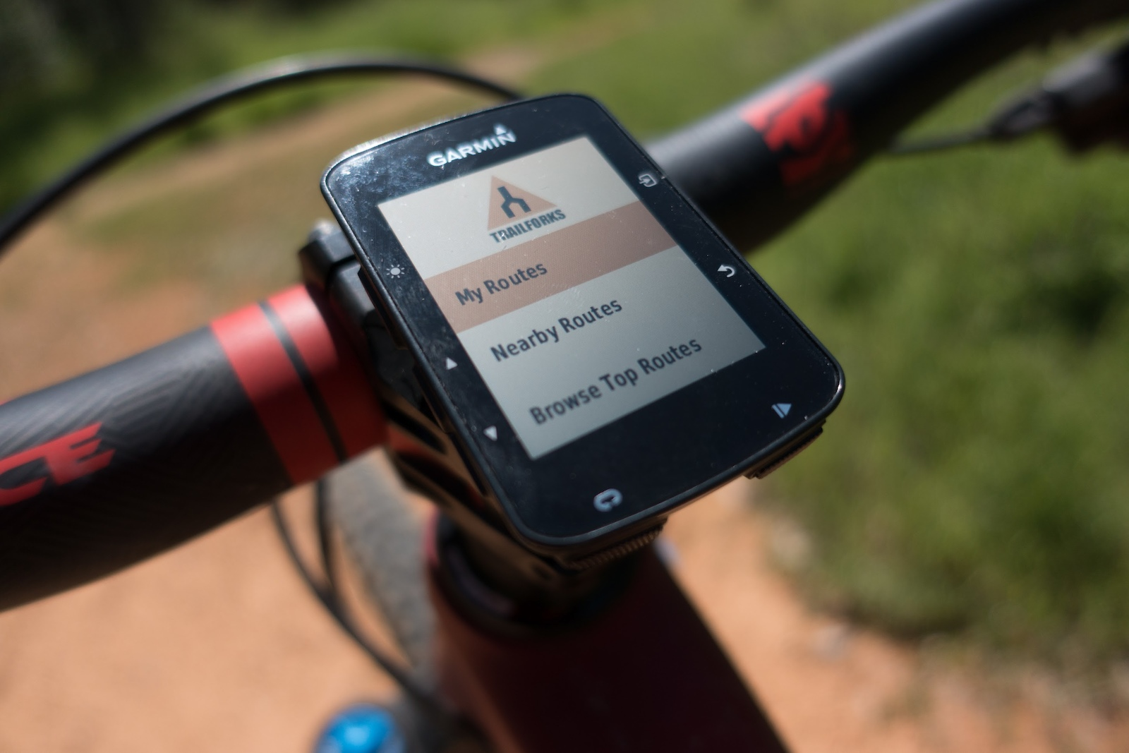 Trailforks now available on the Garmin Edge devices 520 820 100 1030 including the new 520
