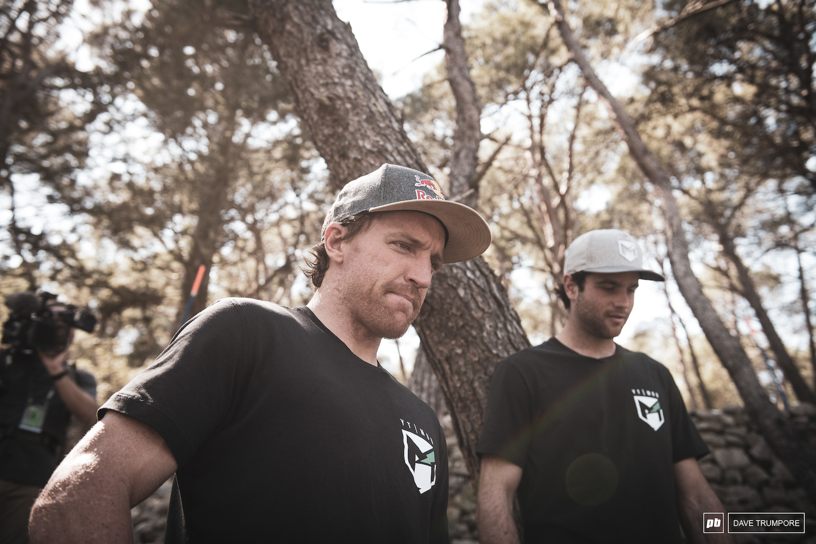Aaron Gwin and Neko Mullally trying to make sense of it all.