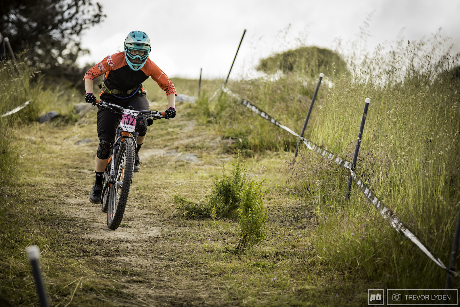 The Sea Otter enduro course is known to be a bit pedal heavy fortunately Ileana Anderson didn t seem to mind.