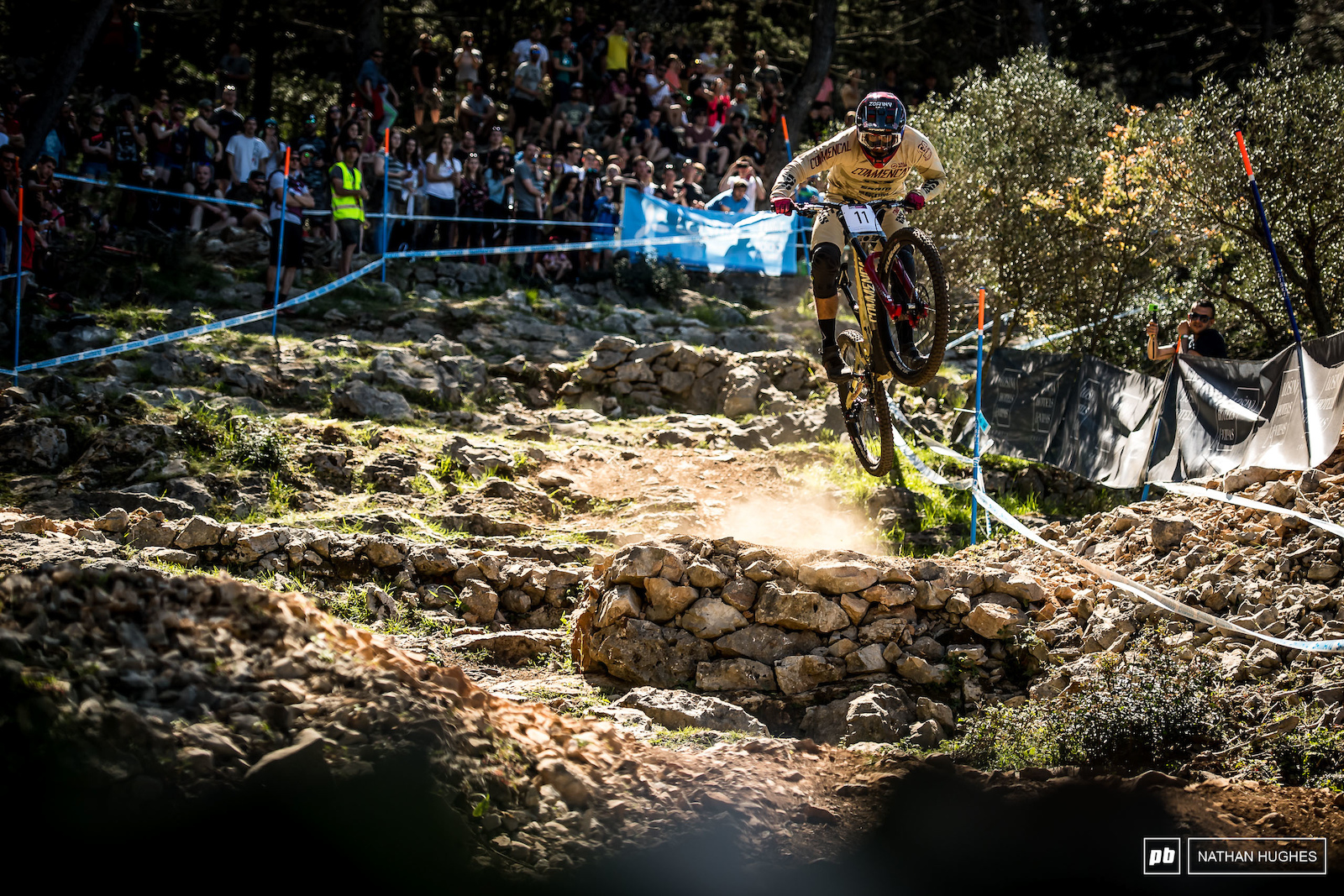 Amaury Pierron doing his new team proud hucking into 7th.