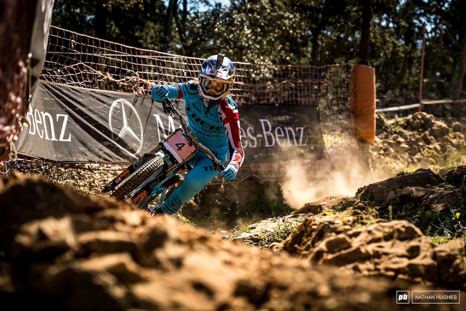 Rachel Atherton came out swinging with a 2 44 run but in a shock turn of events it wasn t to be enough.