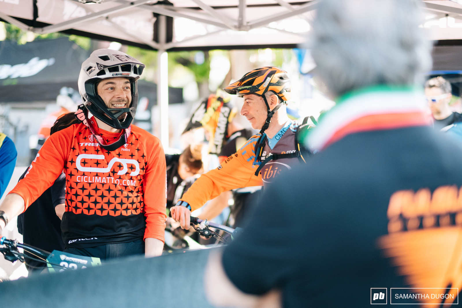 Riders happy and eager to get going on race day