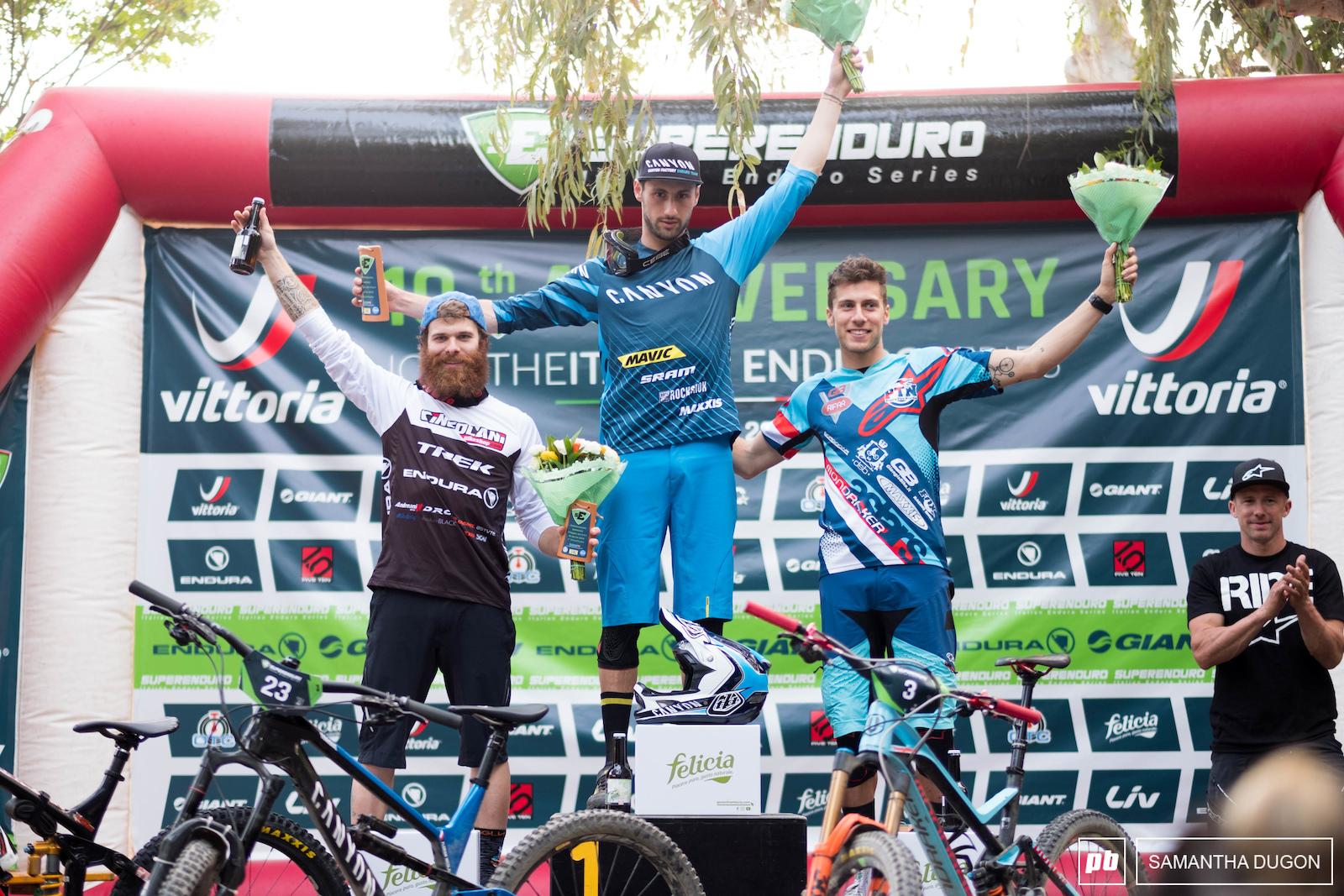 Elite mens podium.