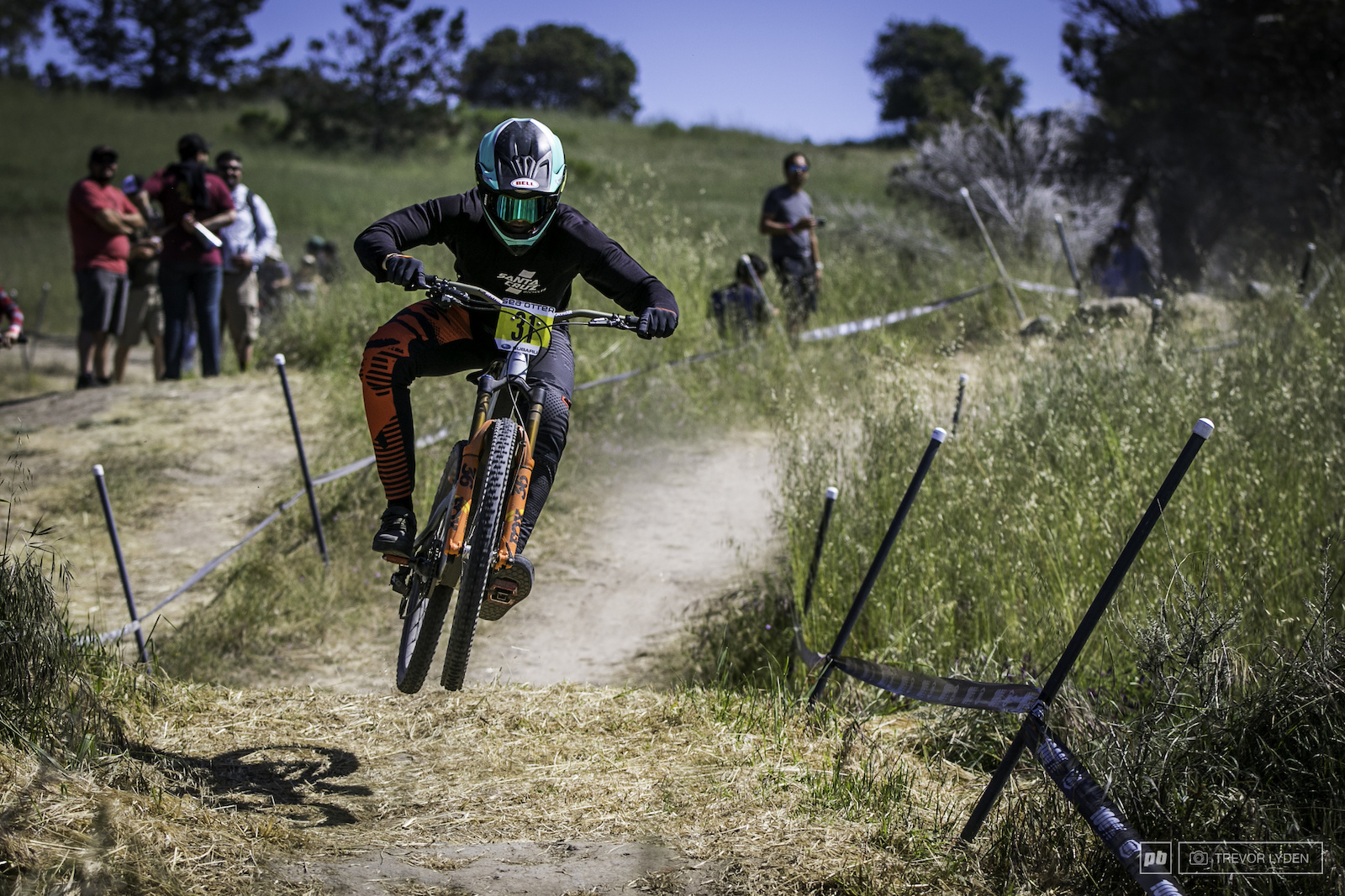 Local rider and second place finisher Kiran Mackinnon