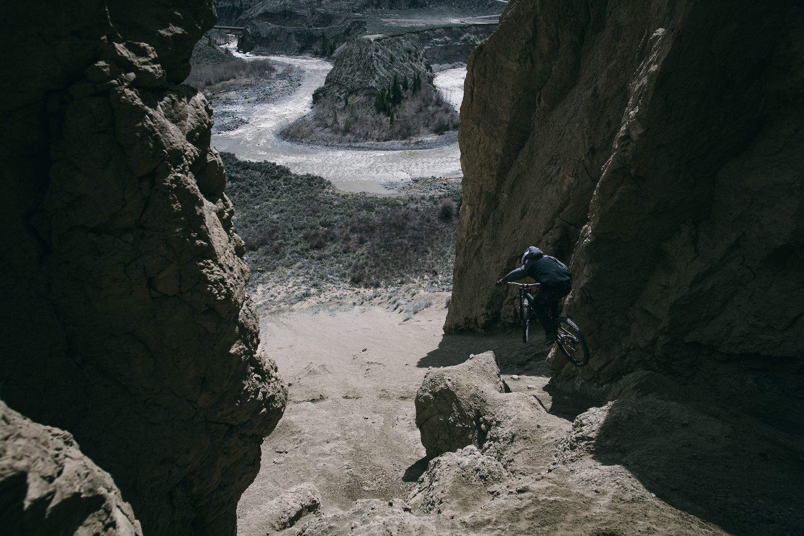 Quinn Hanley finds another new line inside the hoodoos.