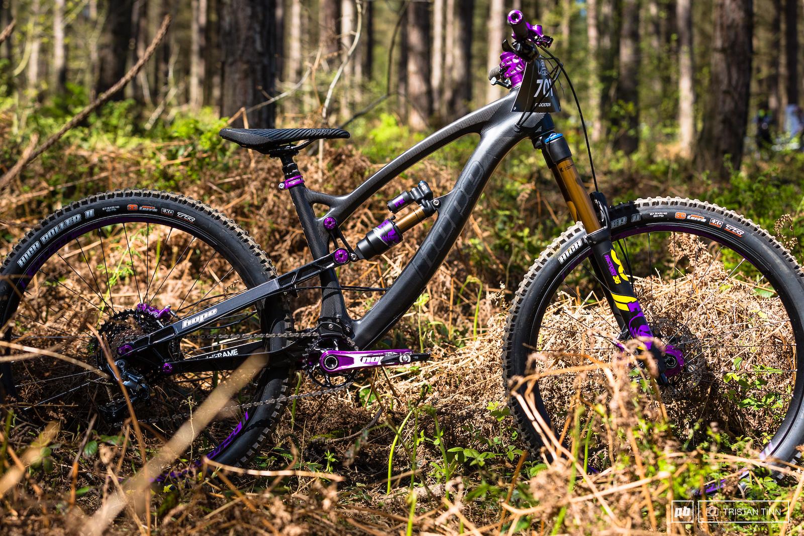 Emma Flockton s HB160 laced with purple