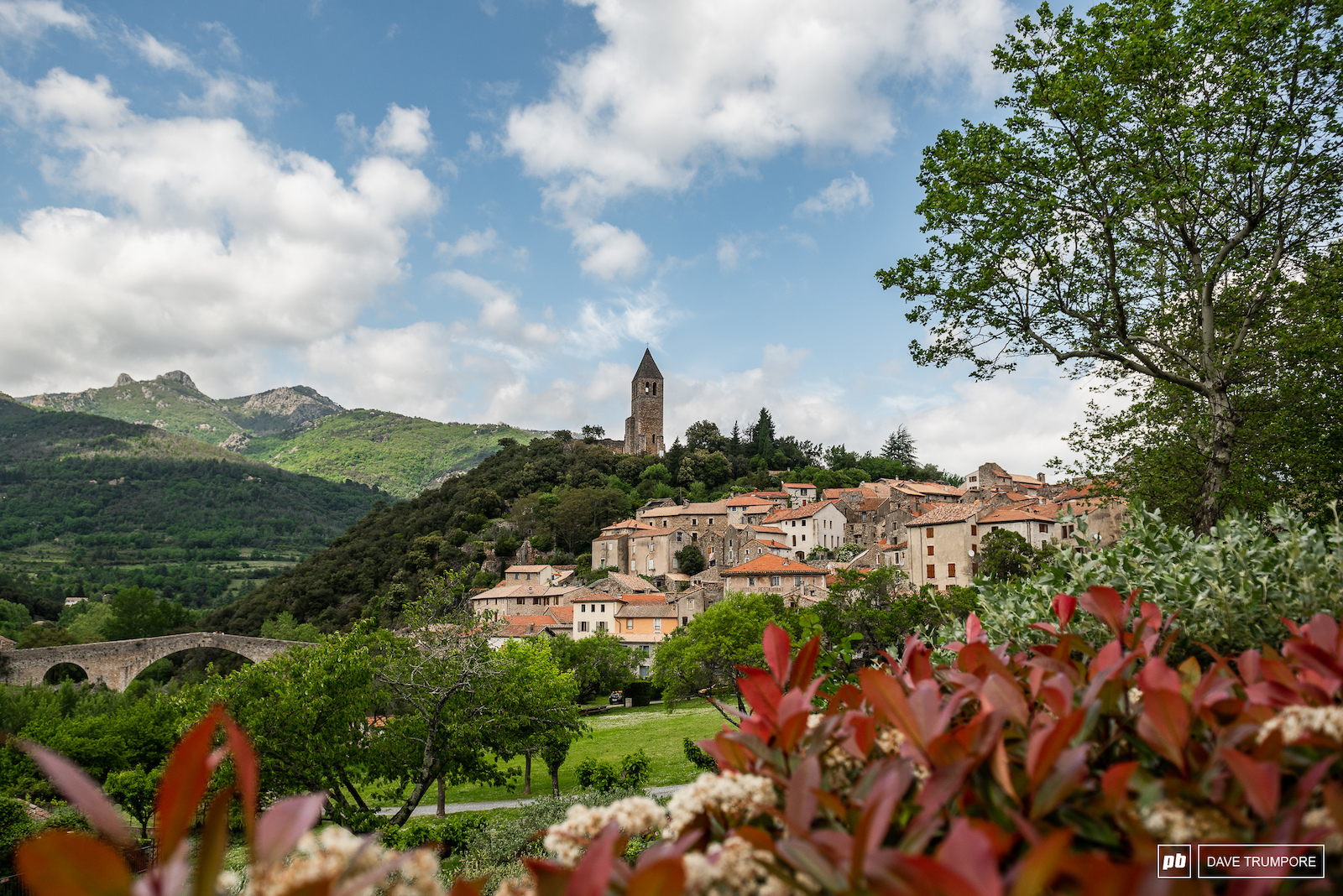 The French village of Olargues which will play host to the 3rd round of the 2018 Enduro World Series.