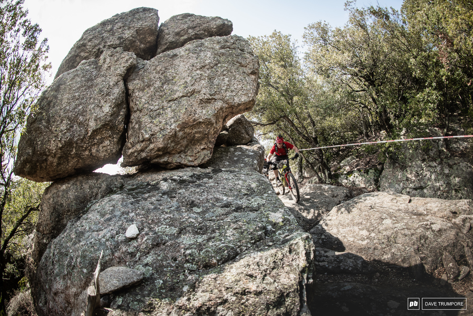 Chris Ball pounds down the boulder field that is Stage 3.