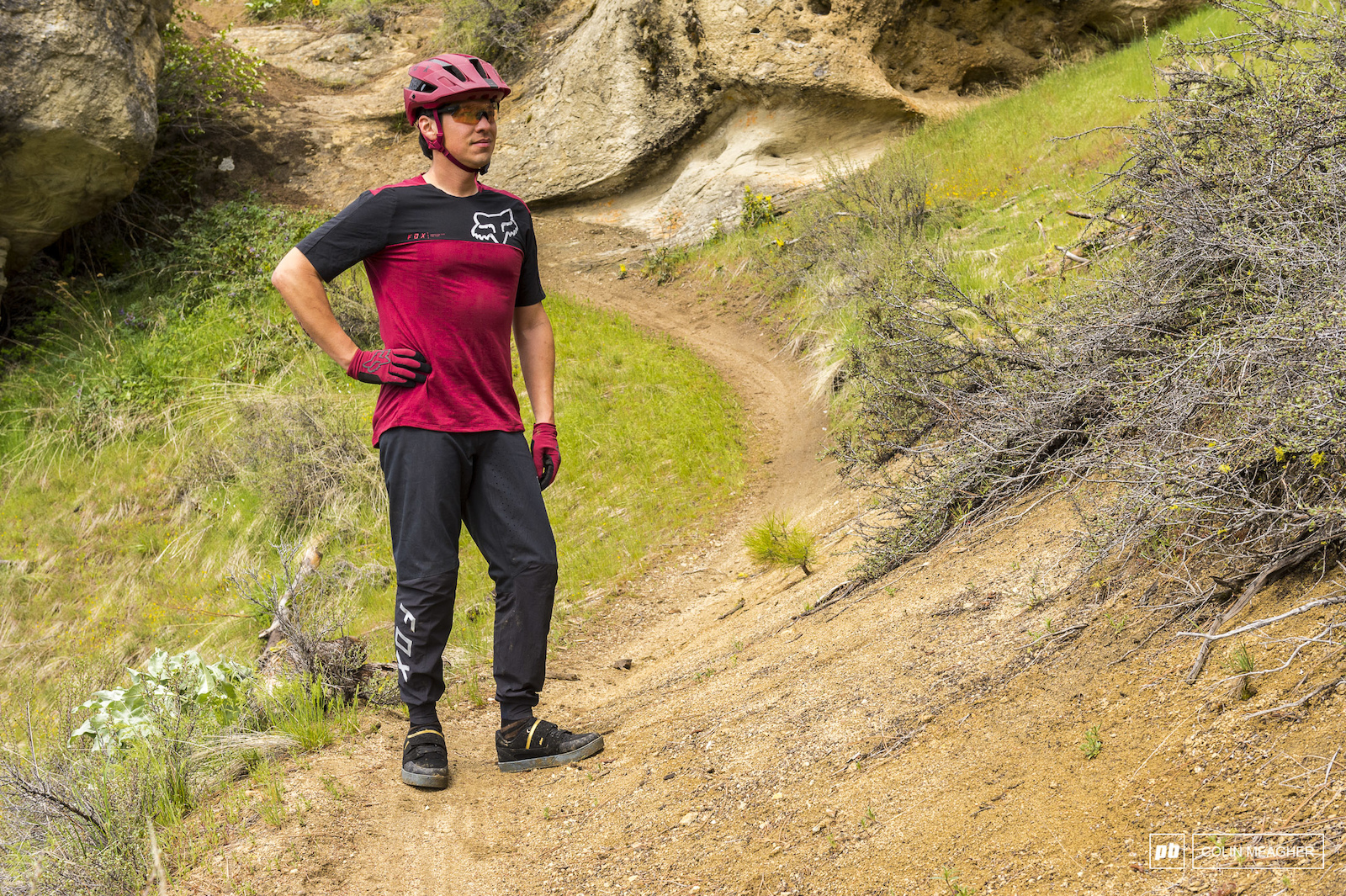 Fox Racing Indicator Pants and Attack Pro SS Jersey.