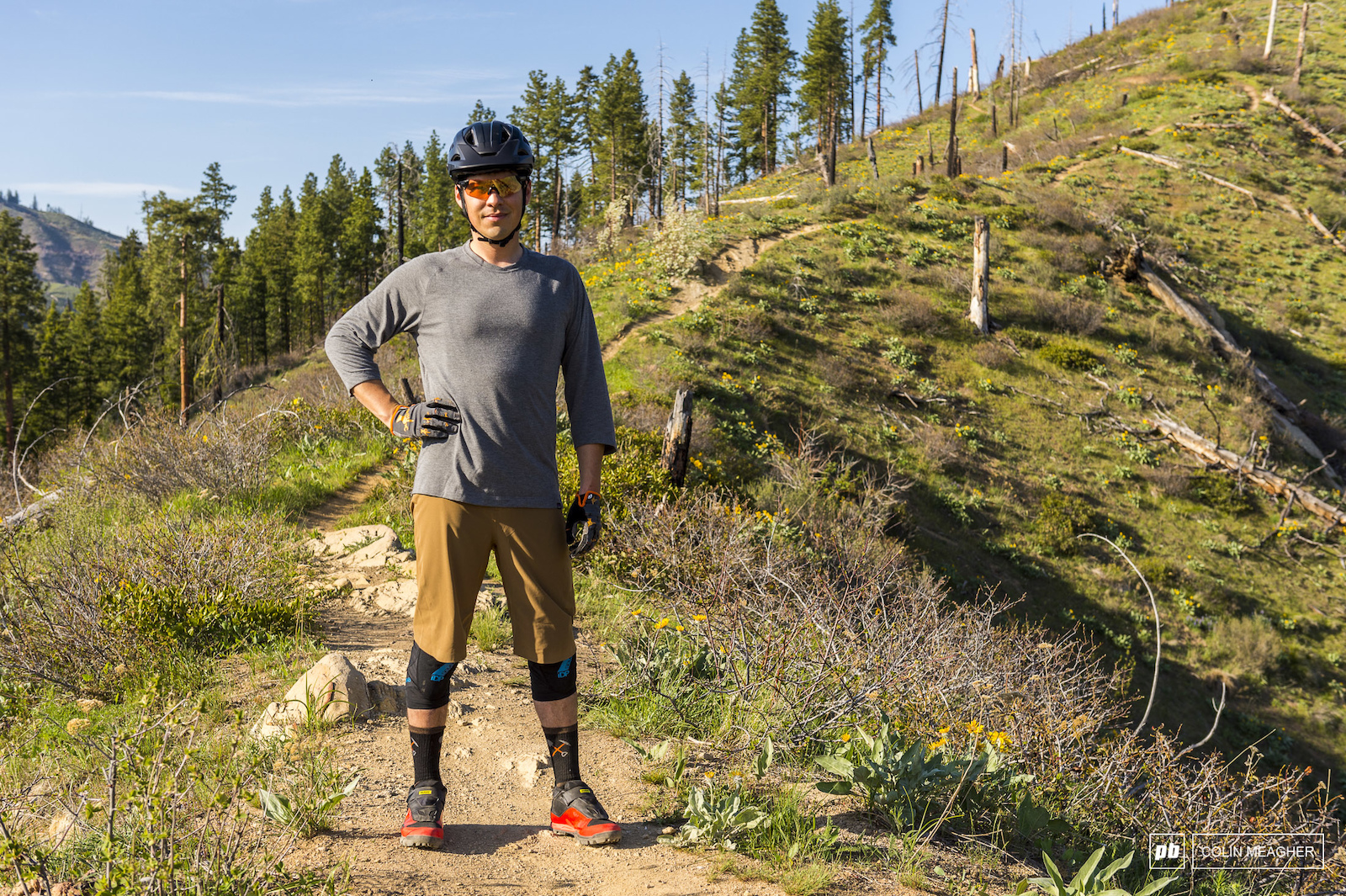 Patagonia s Dirt Roamer Short and Nine Trails three-quarter sleeve jersery.